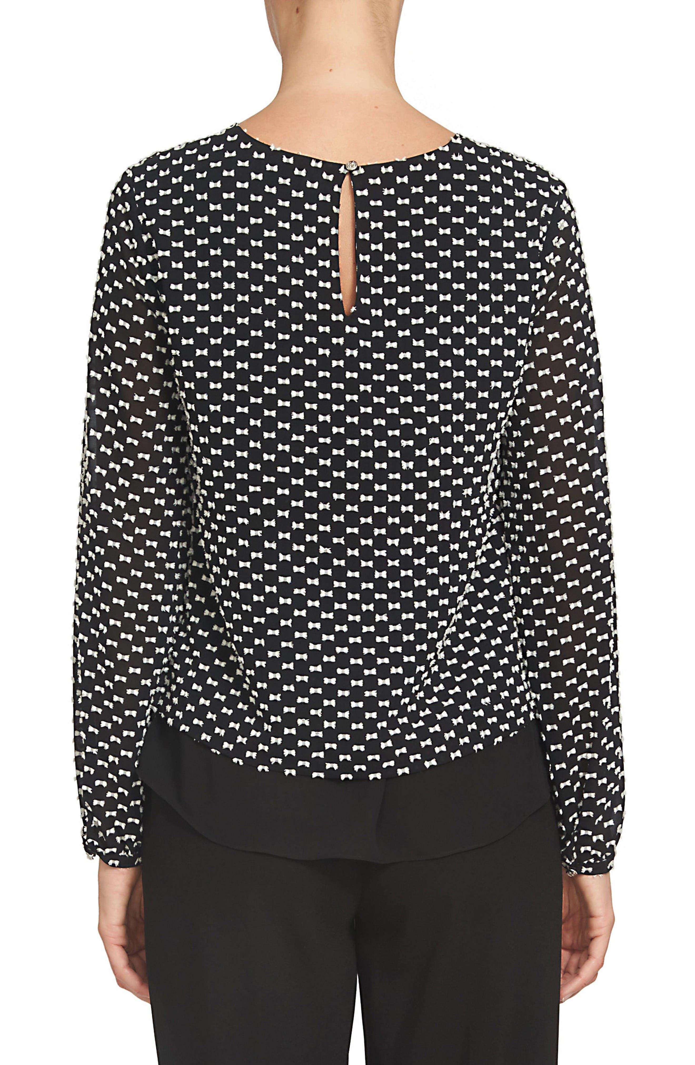 Alternate Image 2  - CeCe Clipped Bow Dot Blouse