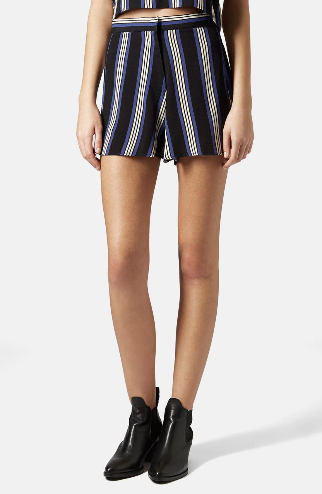 Alternate Image 1 Selected - Topshop High Rise Stripe Shorts