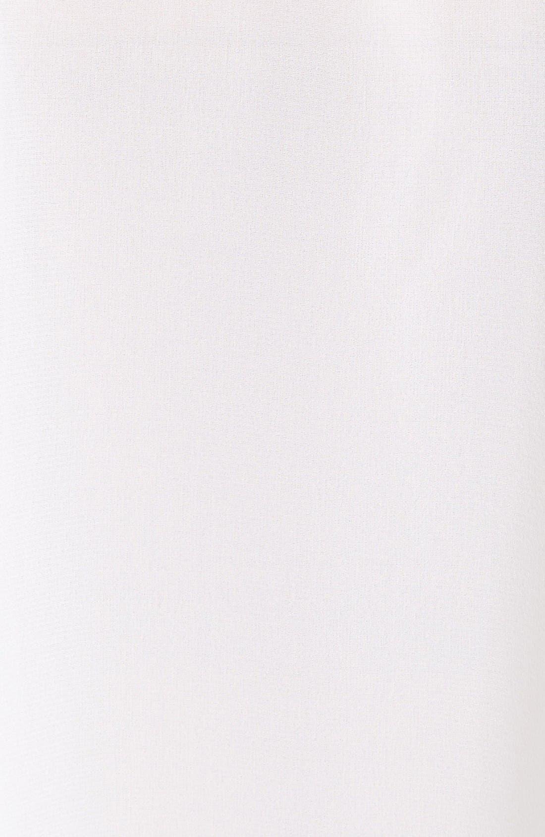 Alternate Image 5  - Alice + Olivia Oswald Contrast Trim Silk Necktie Blouse