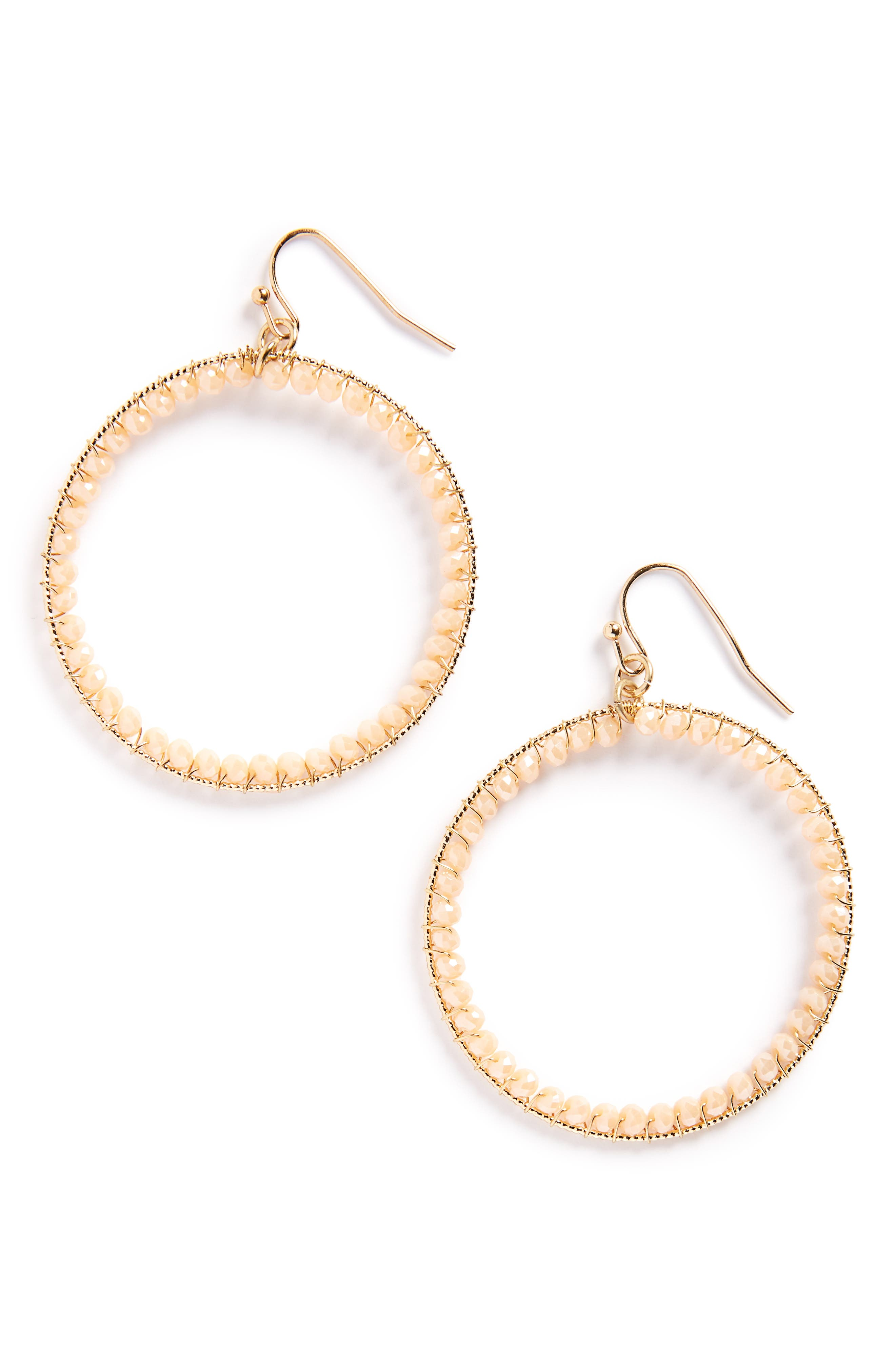 Panacea Crystal Circle Earrings