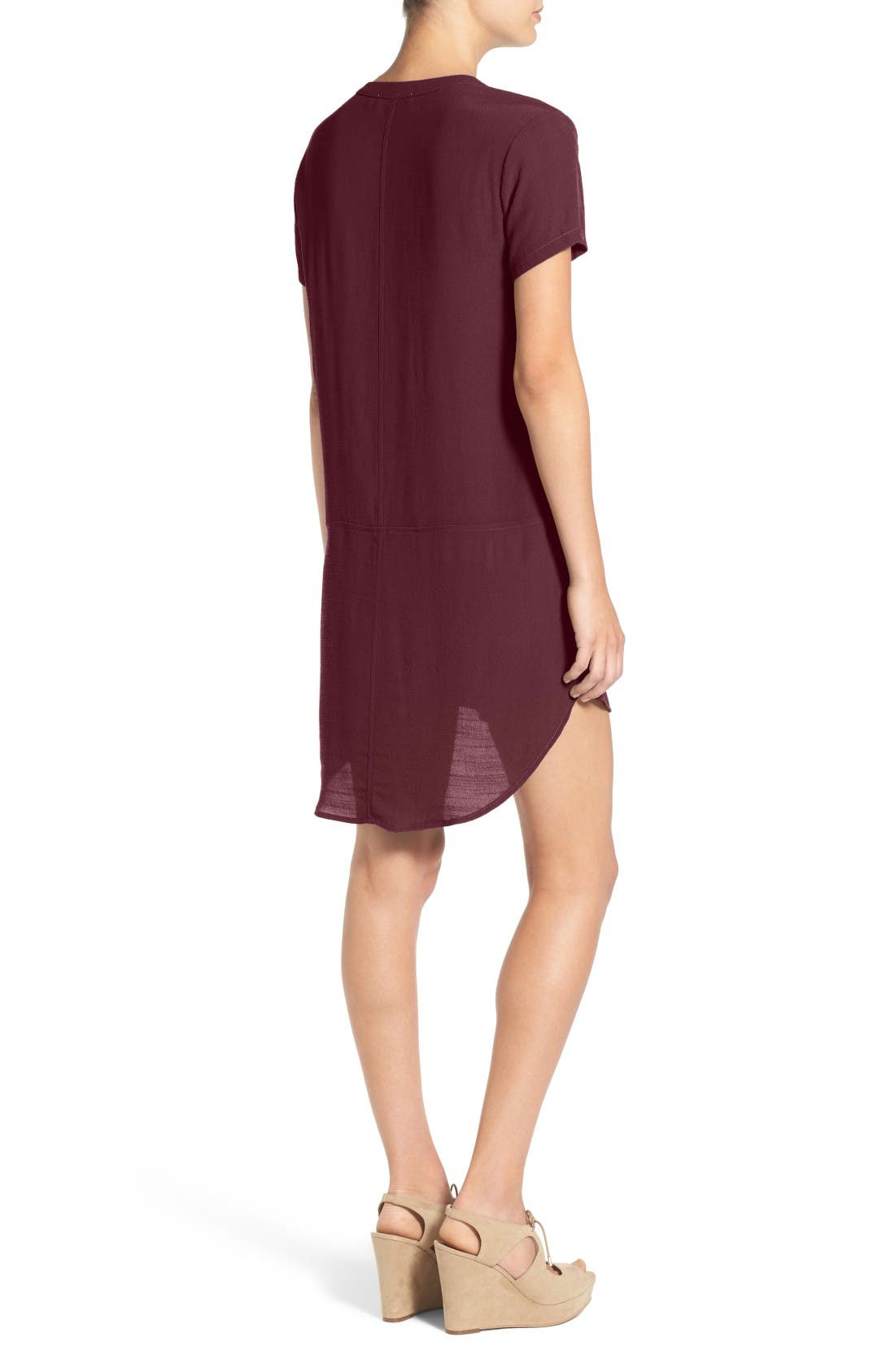 Alternate Image 2  - Lush Split Neck Shift Dress