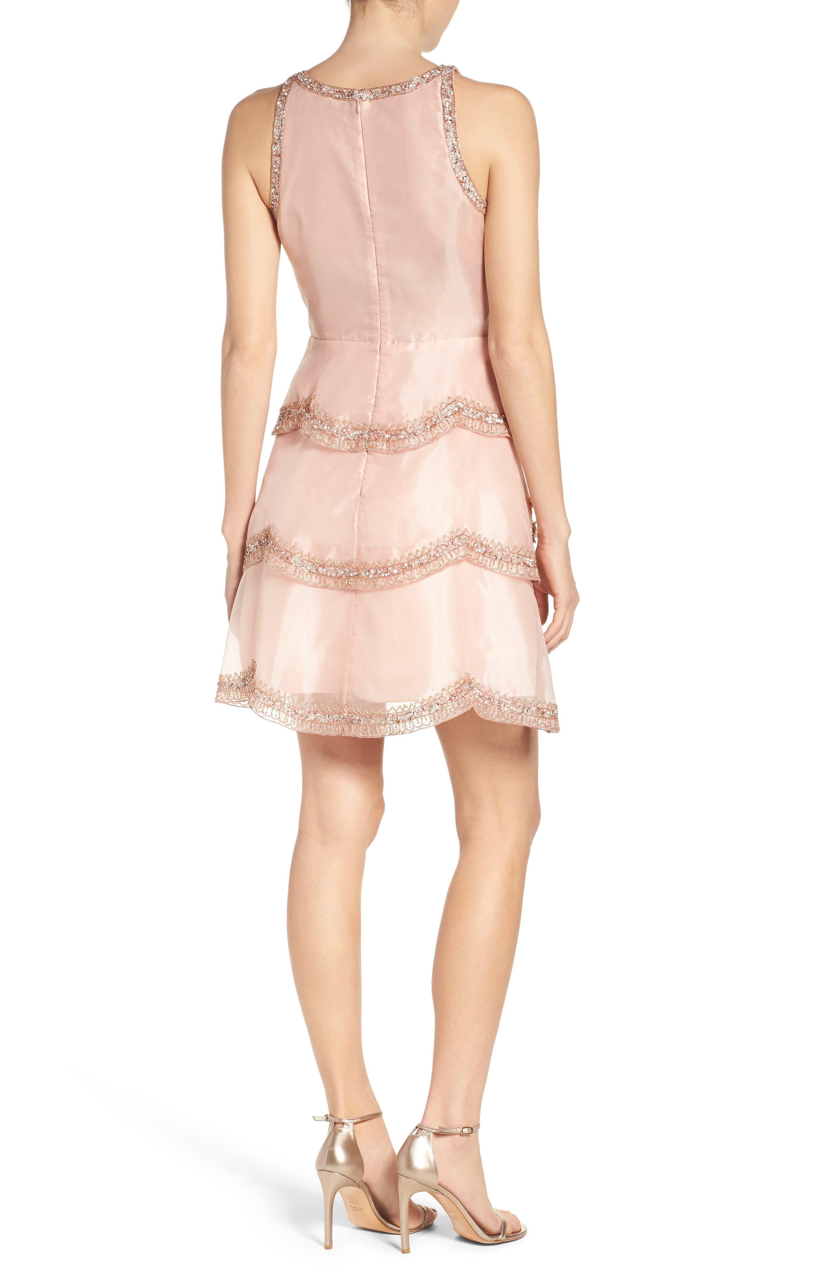 Alternate Image 2  - Adrianna Papell Scallop Dress