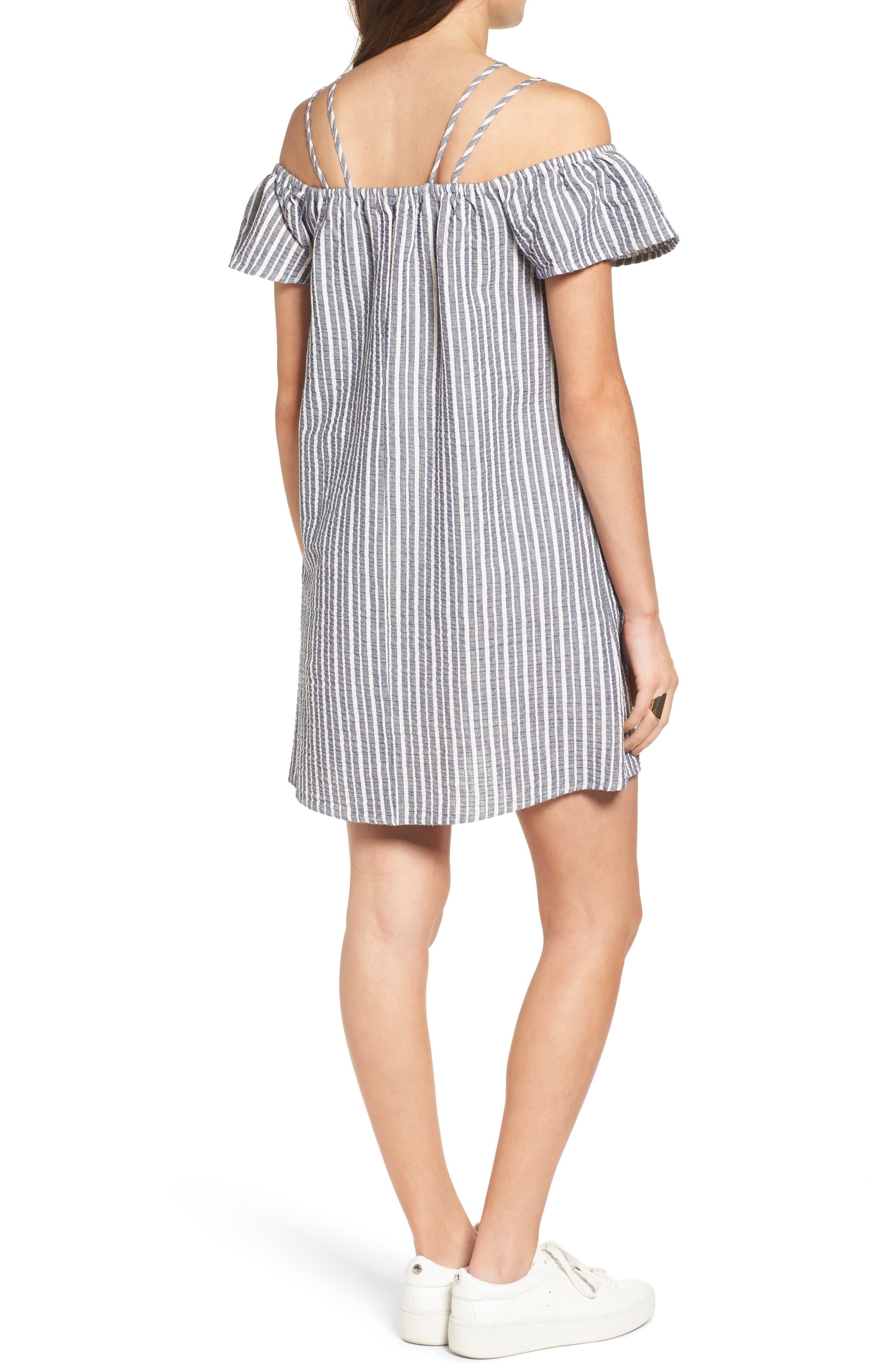 Alternate Image 2  - Lush Stripe Off the Shoulder Dress