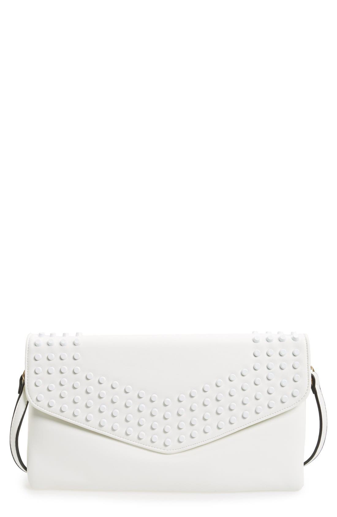 Main Image - Sondra Roberts Studded Faux Leather Envelope Clutch