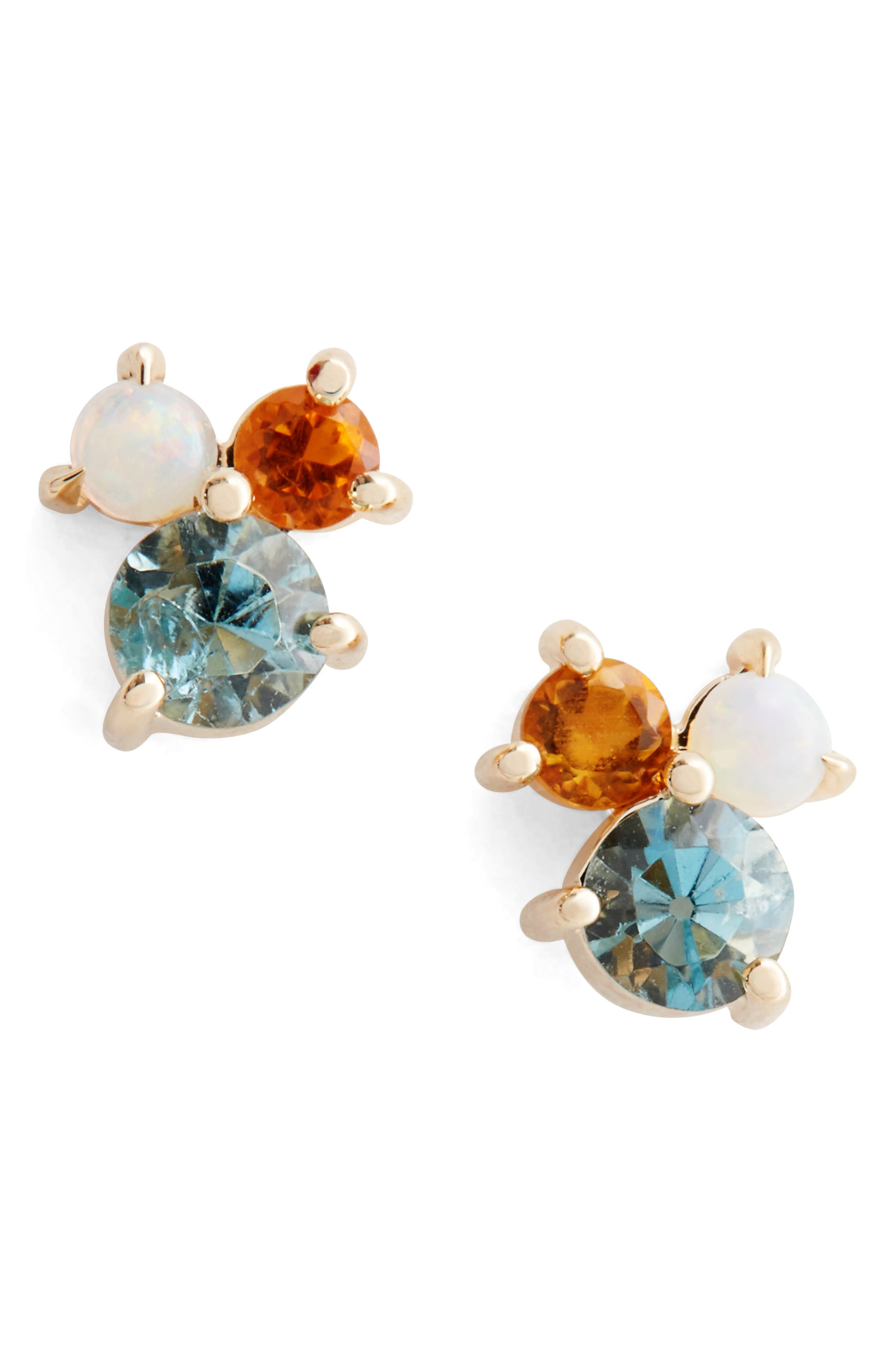 MOCIUN Aquamarine, Citrine & Opal Earrings (Nordstrom Exclusive)