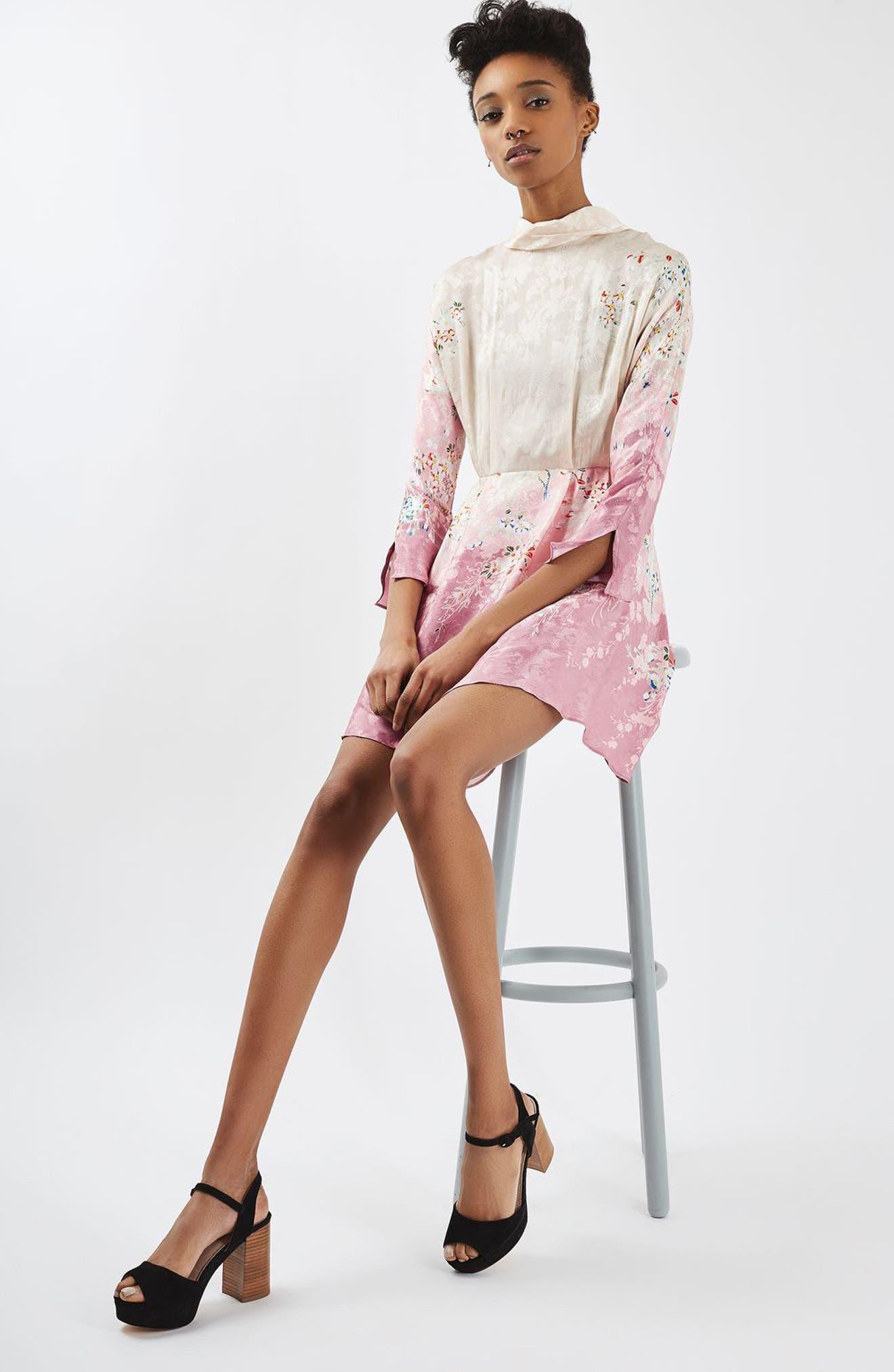 Alternate Image 2  - Topshop Jacquard Floral Print Dress