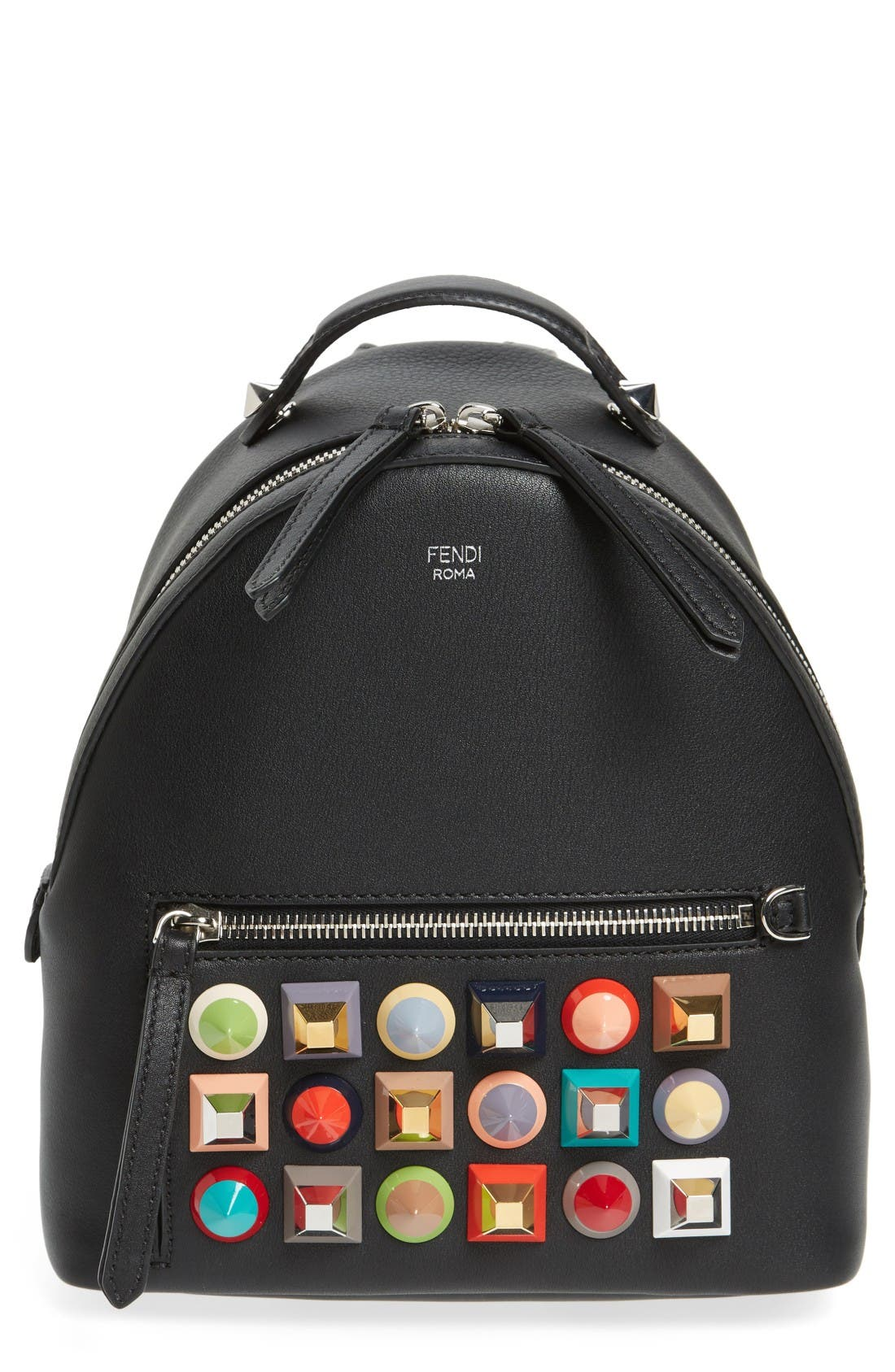 FENDI Mini Multi Studs Leather Backpack