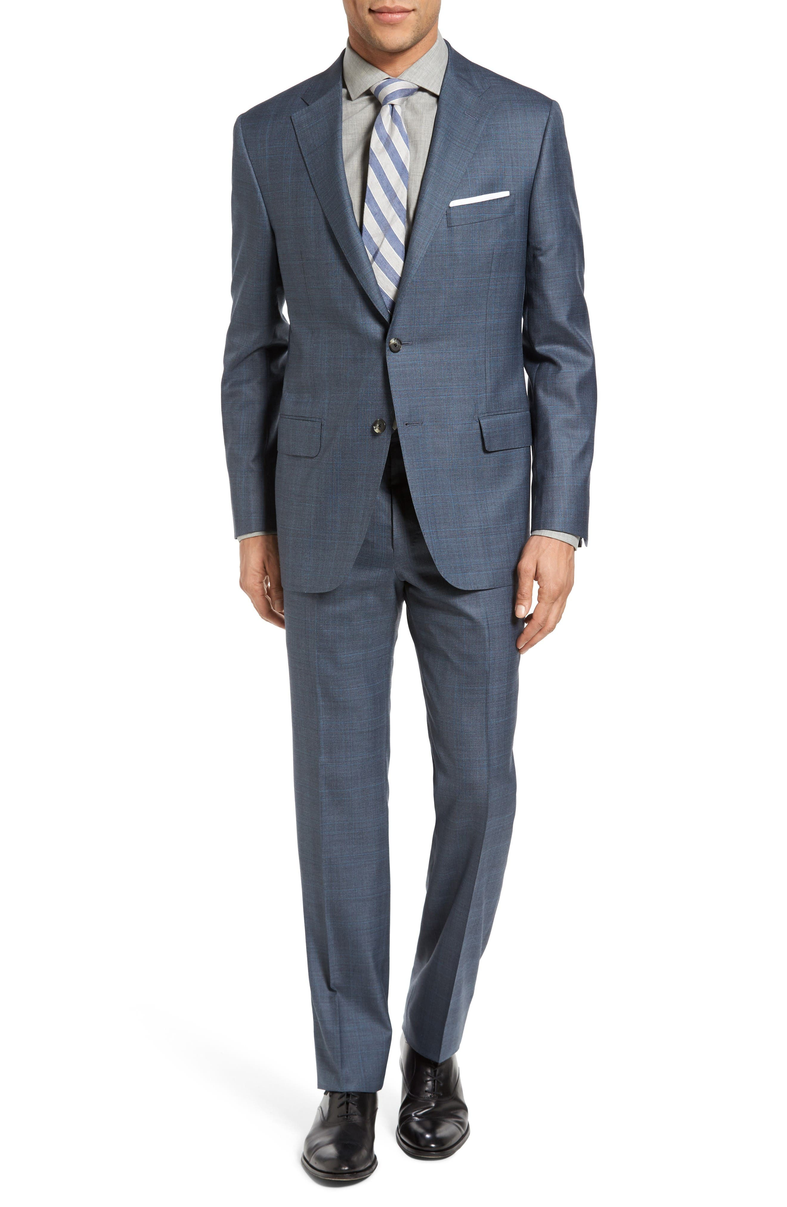 HICKEY FREEMAN Beacon Classic Fit Plaid Wool &