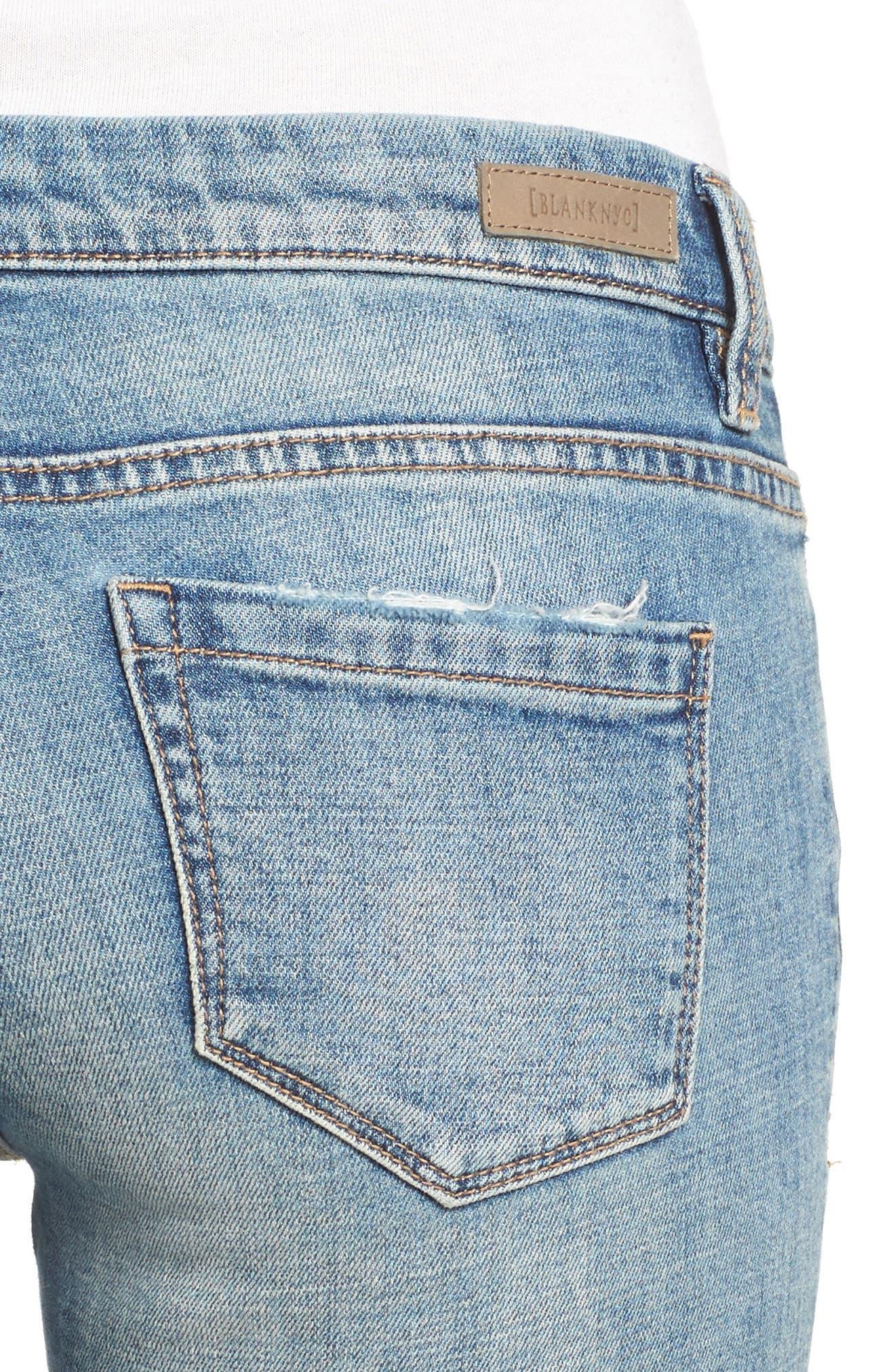 Alternate Image 4  - BLANKNYC Lost & Found Cuffed Straight Leg Jeans