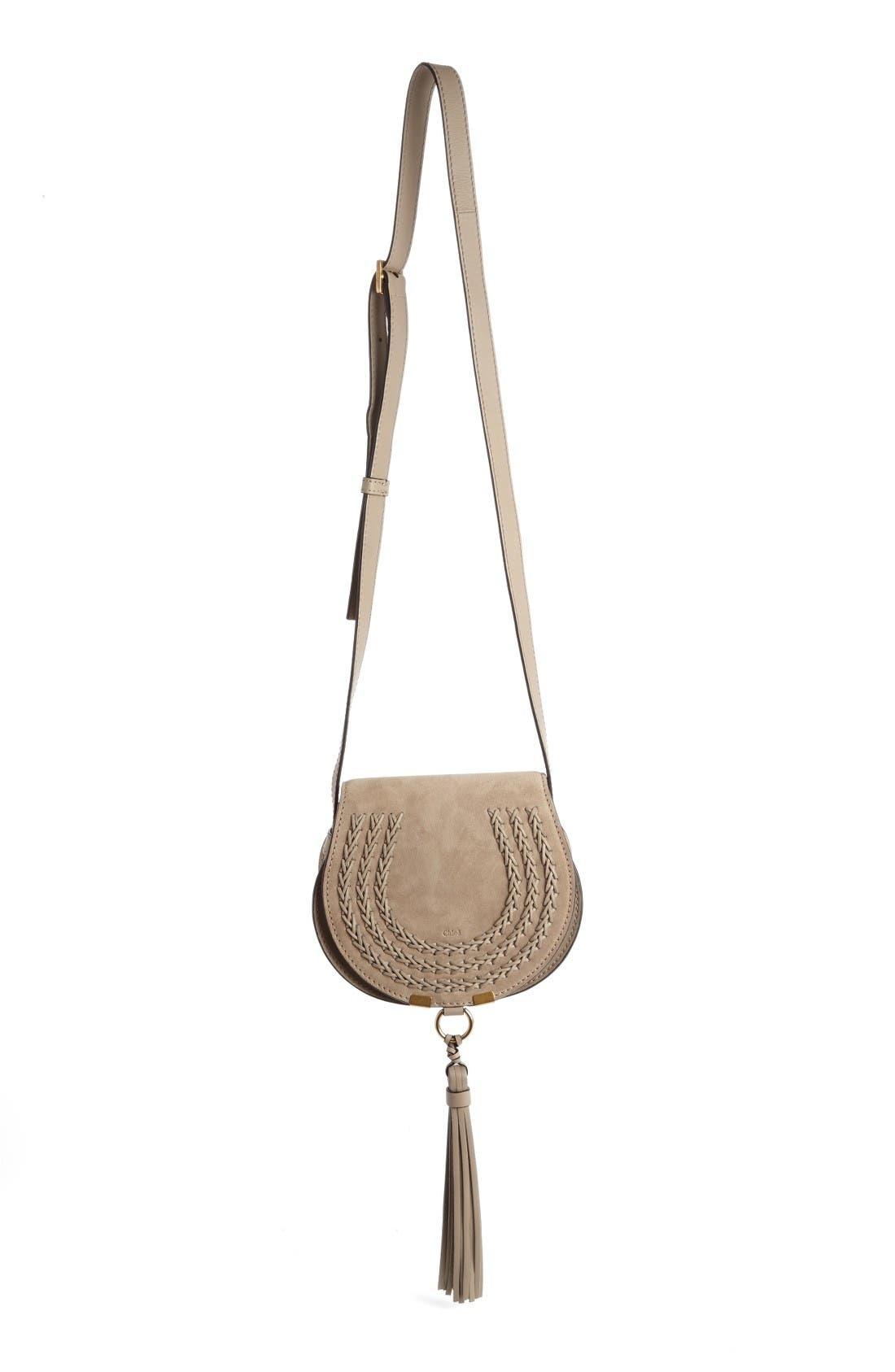 Alternate Image 1 Selected - Chloé 'Mini Marcie' Suede Saddle Bag