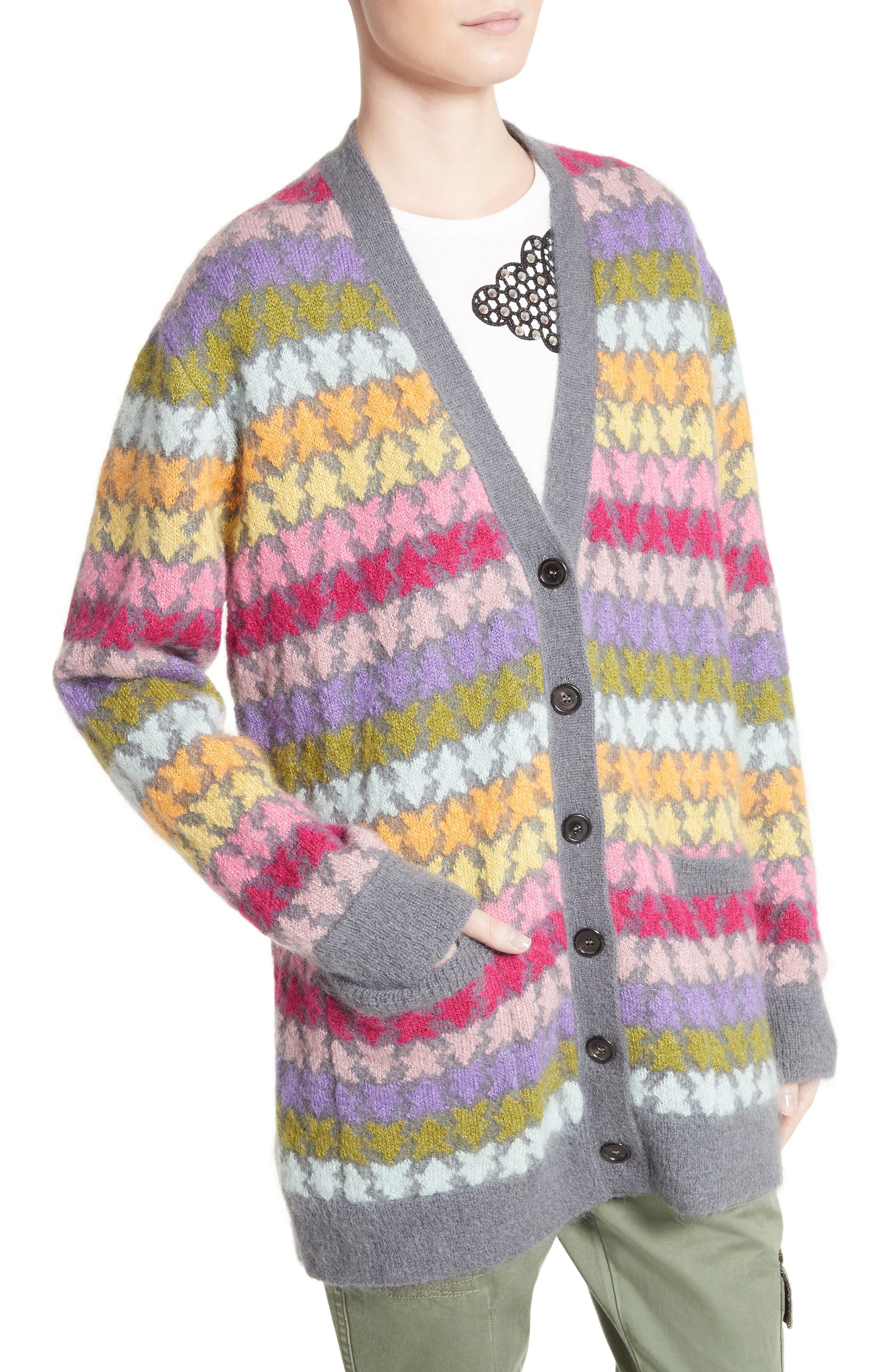 Alternate Image 6  - MARC JACOBS Star Knit Mohair Blend Cardigan