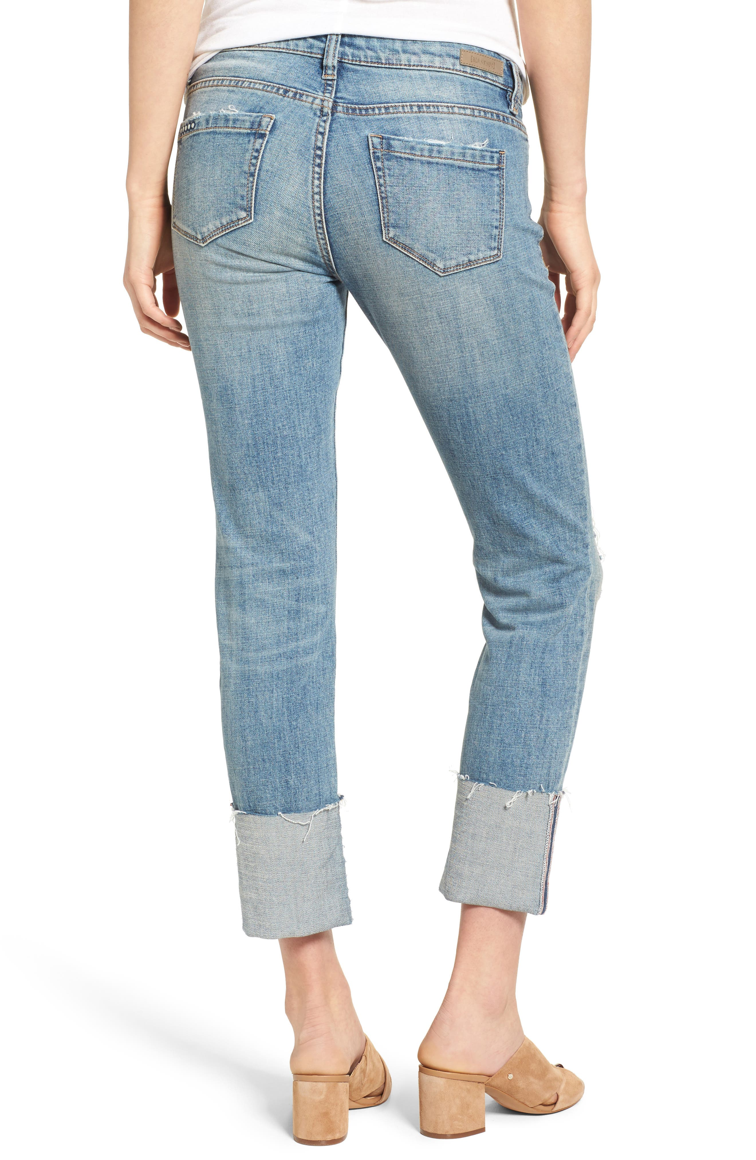 Alternate Image 2  - BLANKNYC Lost & Found Cuffed Straight Leg Jeans