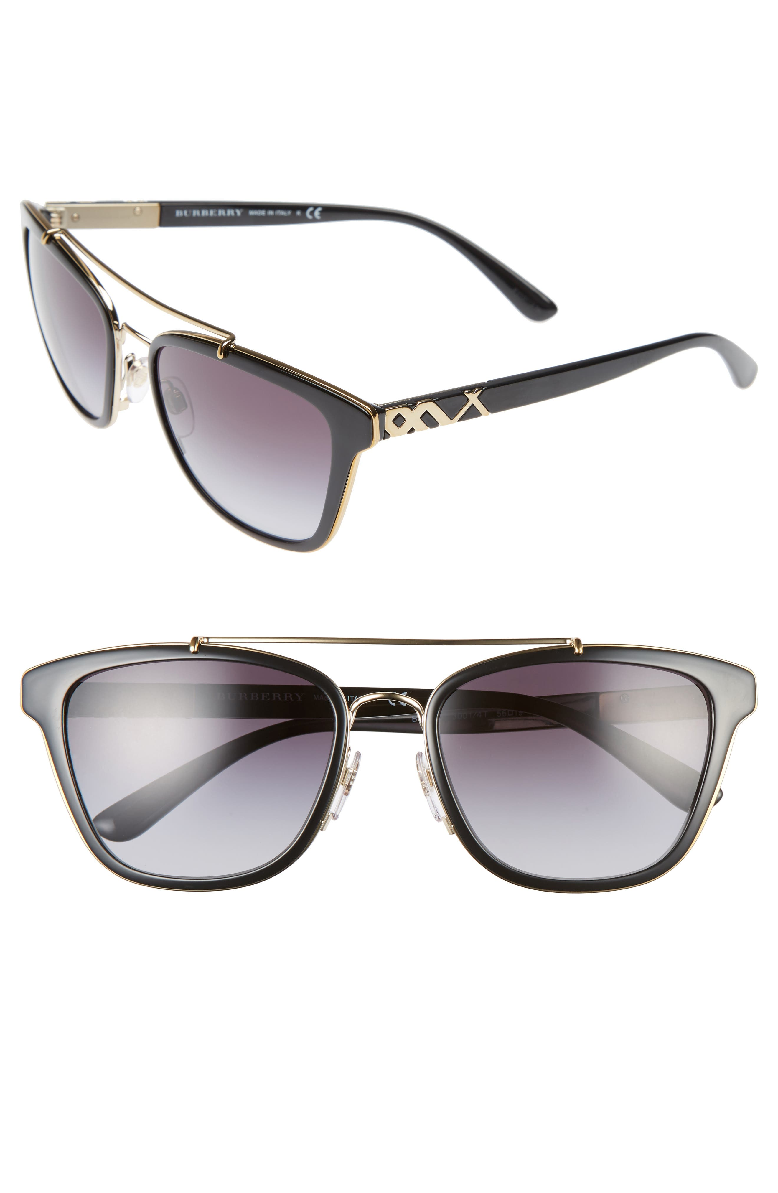 BURBERRY 56mm Sunglasses