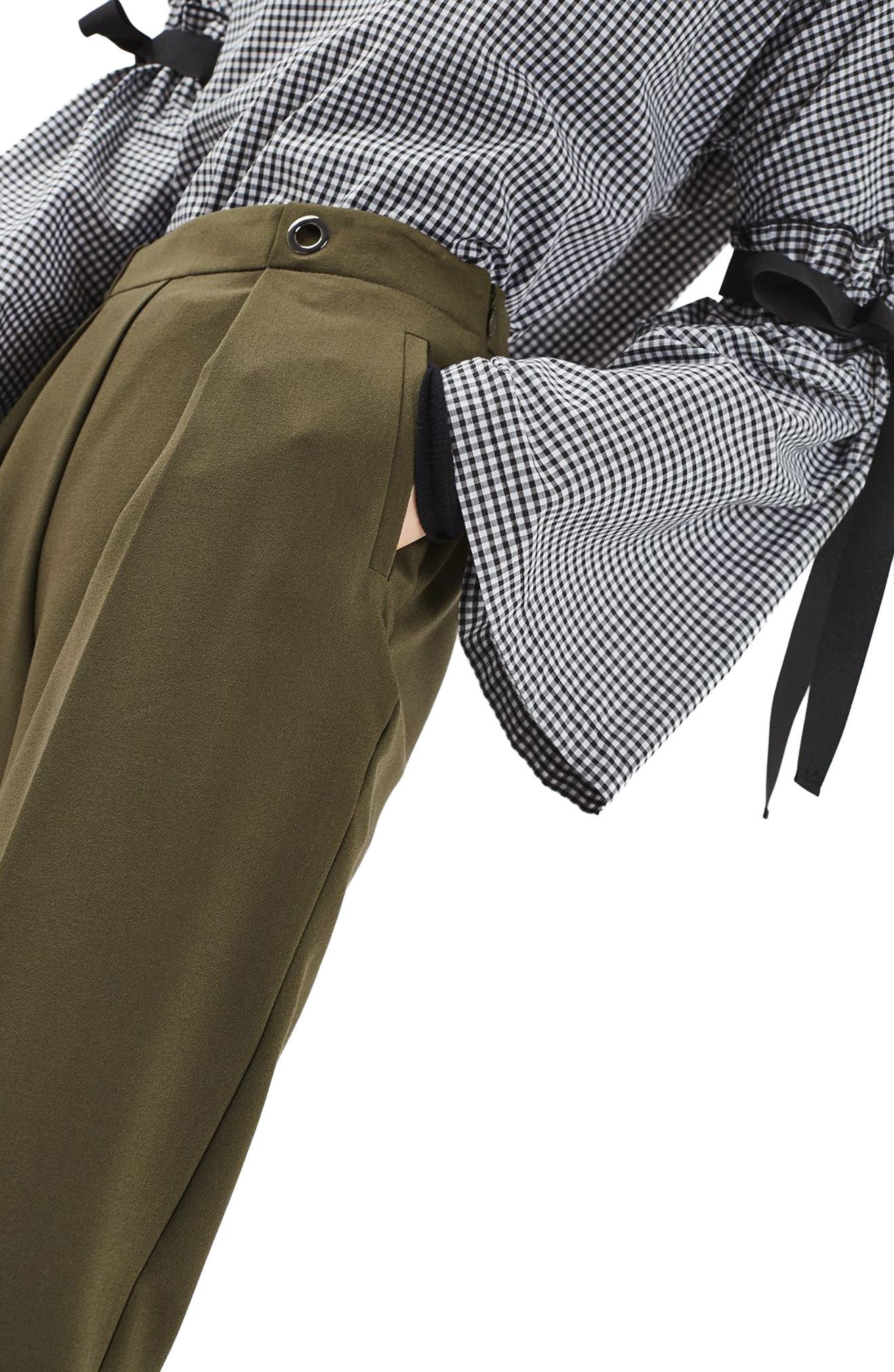 Alternate Image 5  - Topshop Grommet Detail Peg Trousers
