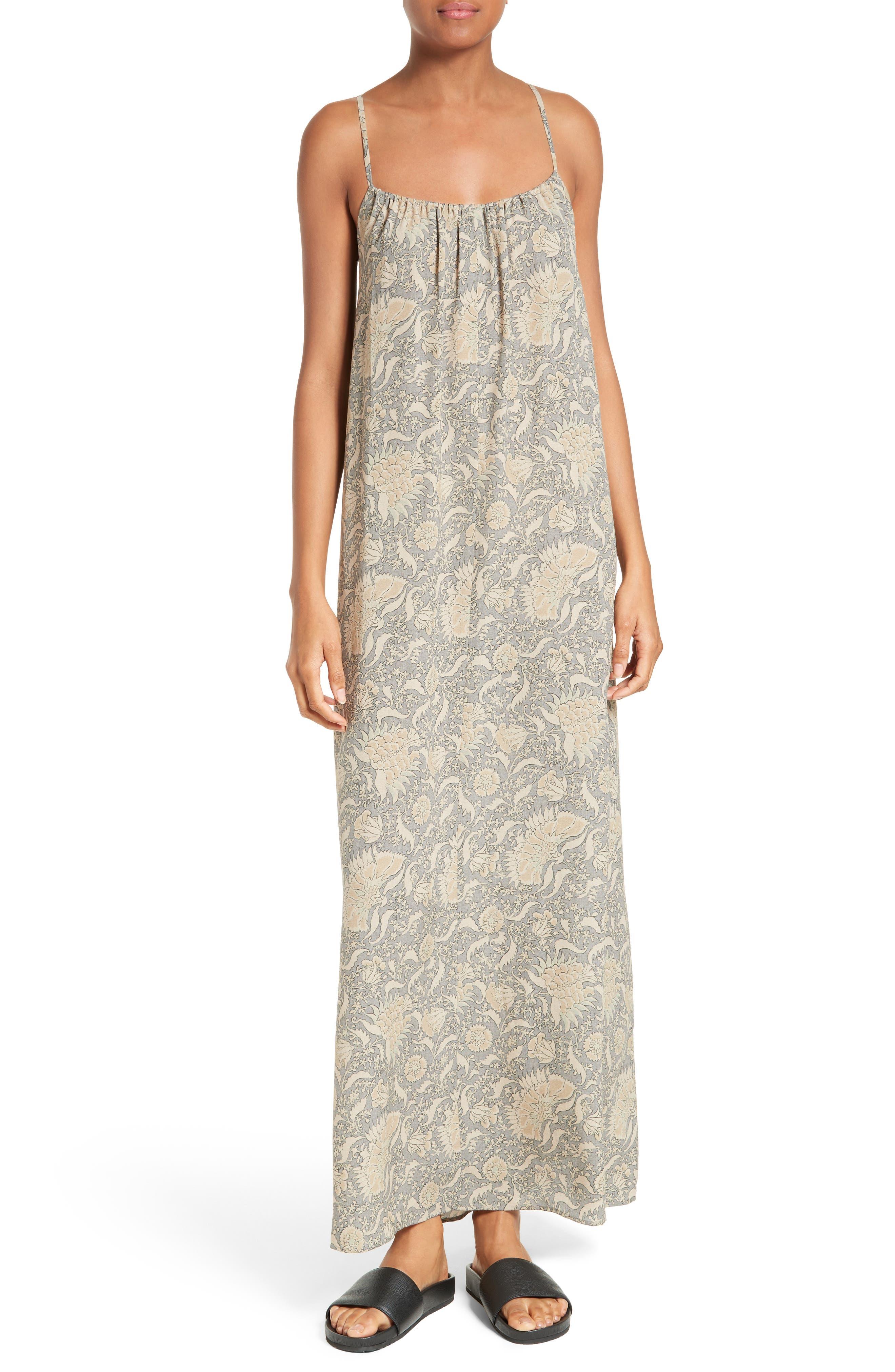 Vince Vintage Floral Silk Slipdress
