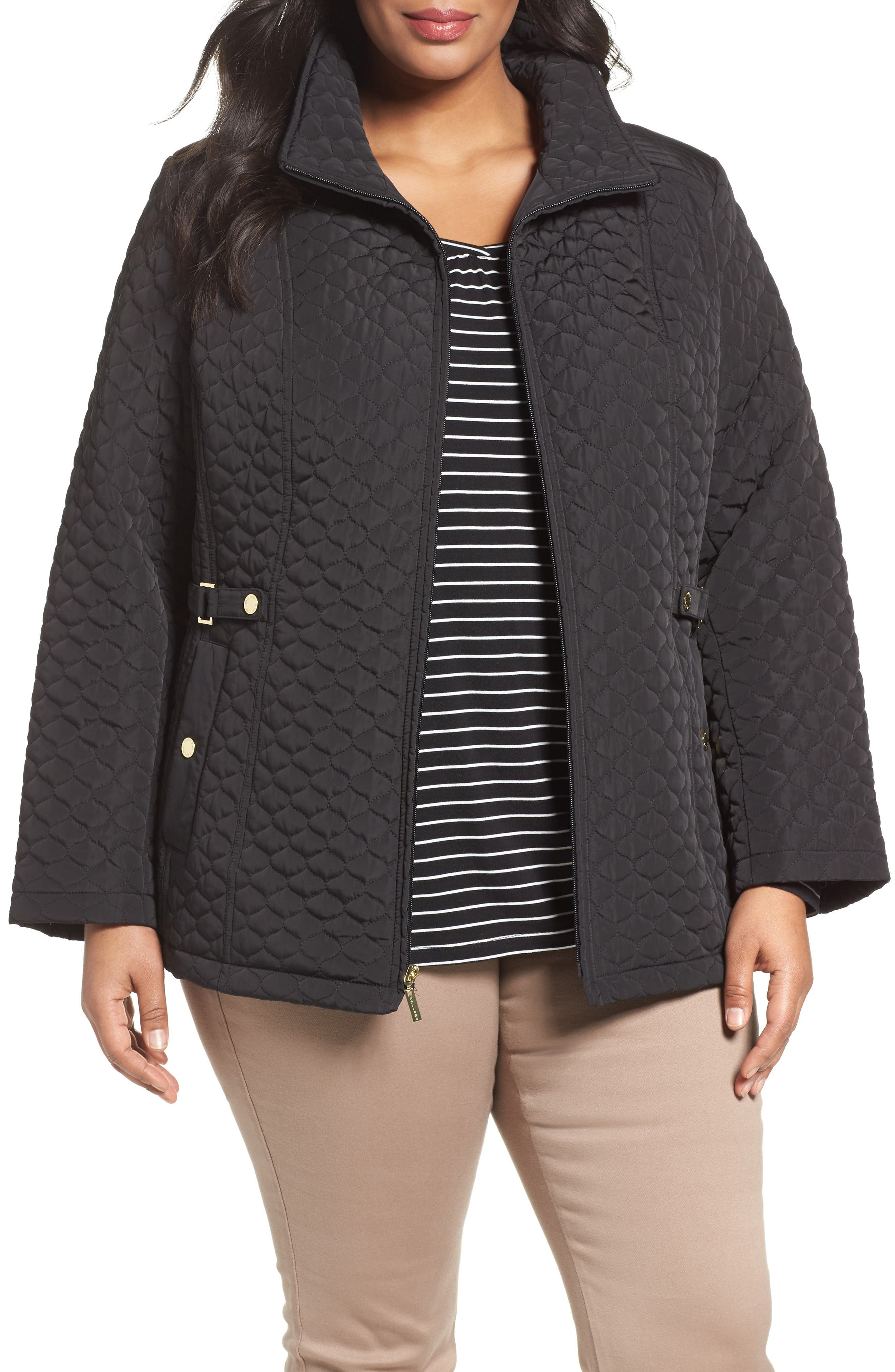 Gallery Quilted Scuba Jacket (Plus Size)