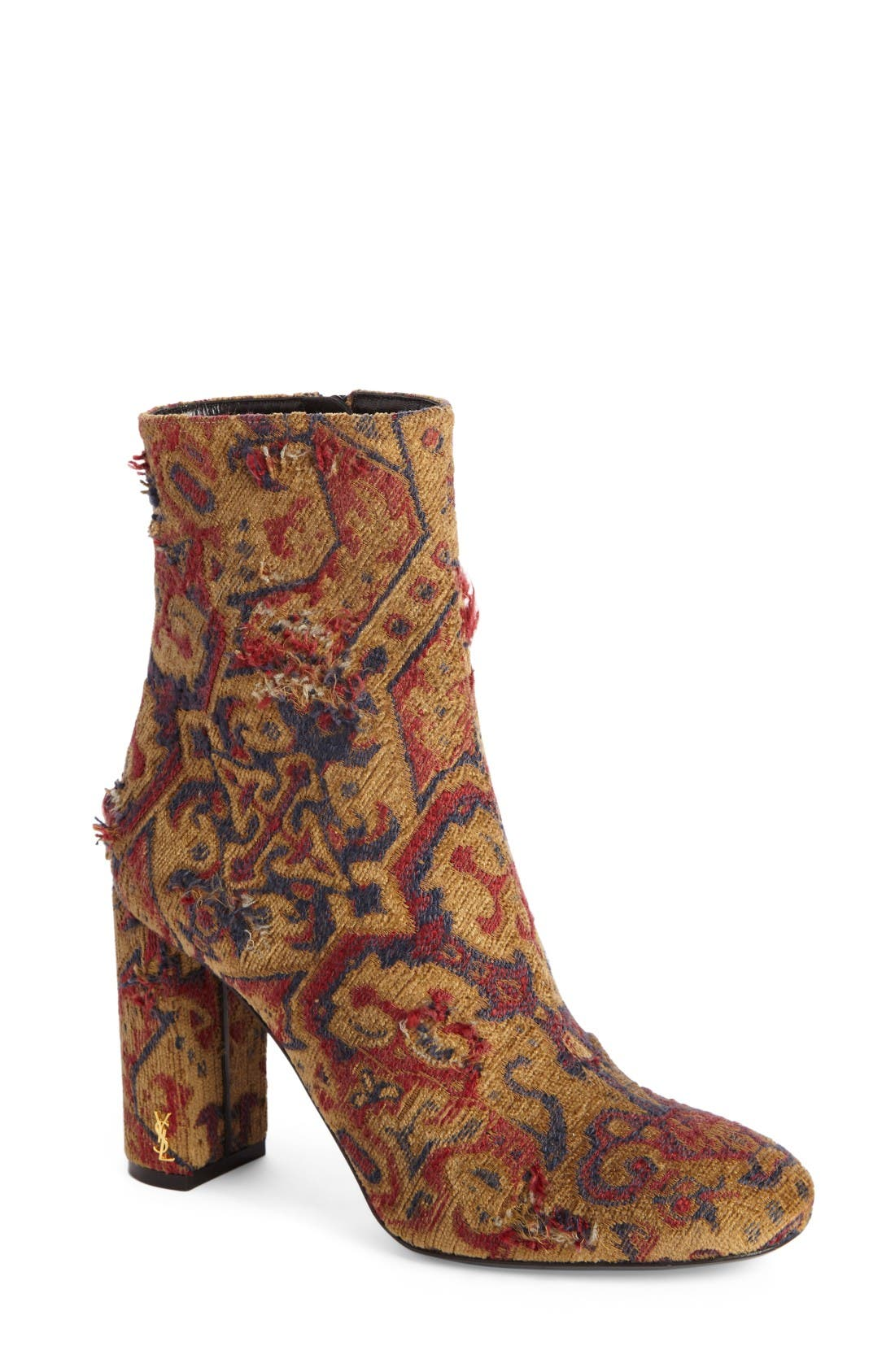 SAINT LAURENT Loulou - Tapestry Bootie