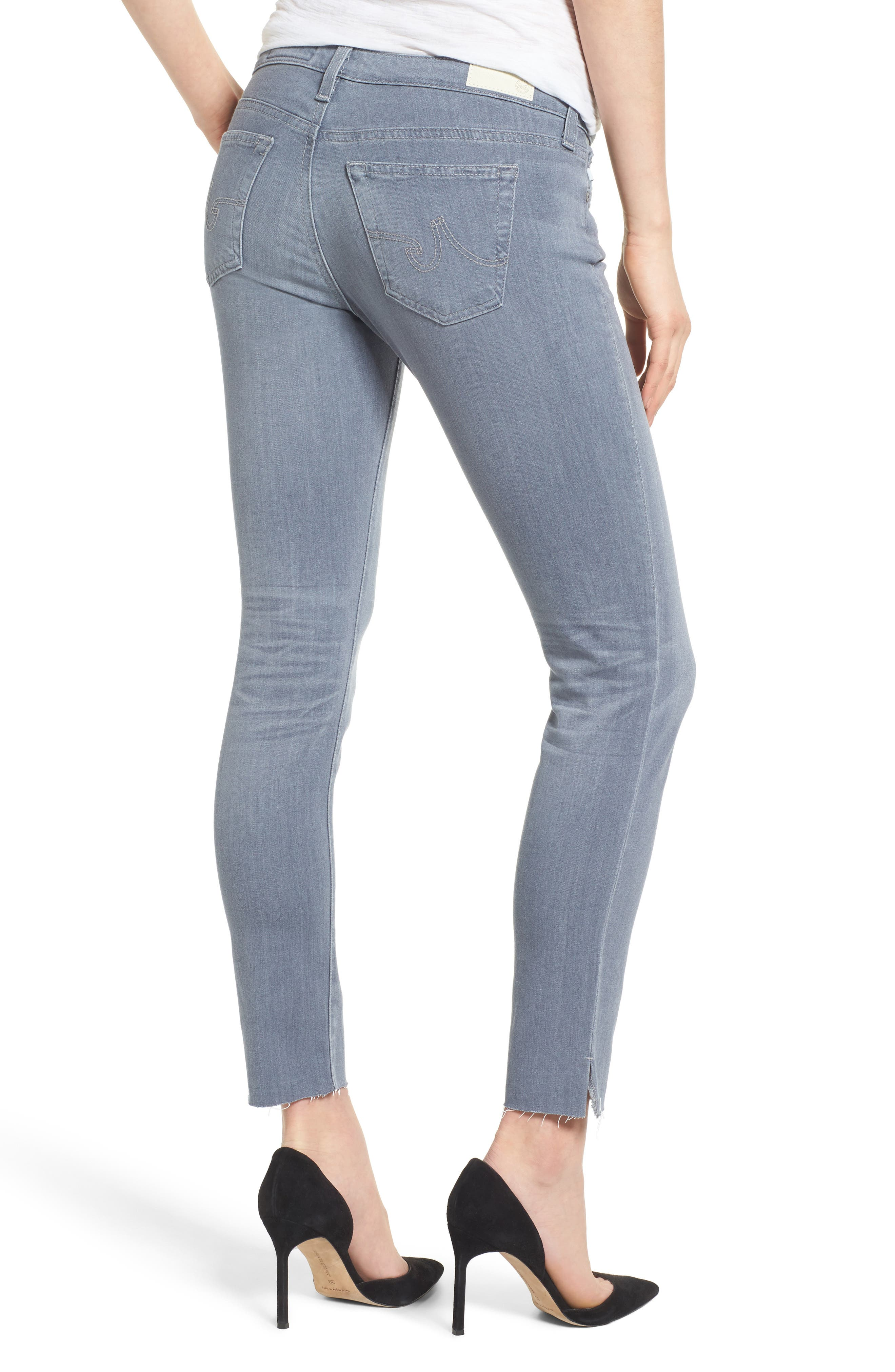 Alternate Image 2  - AG The Legging Ankle Super Skinny Jeans (10 Year Wind Chill)