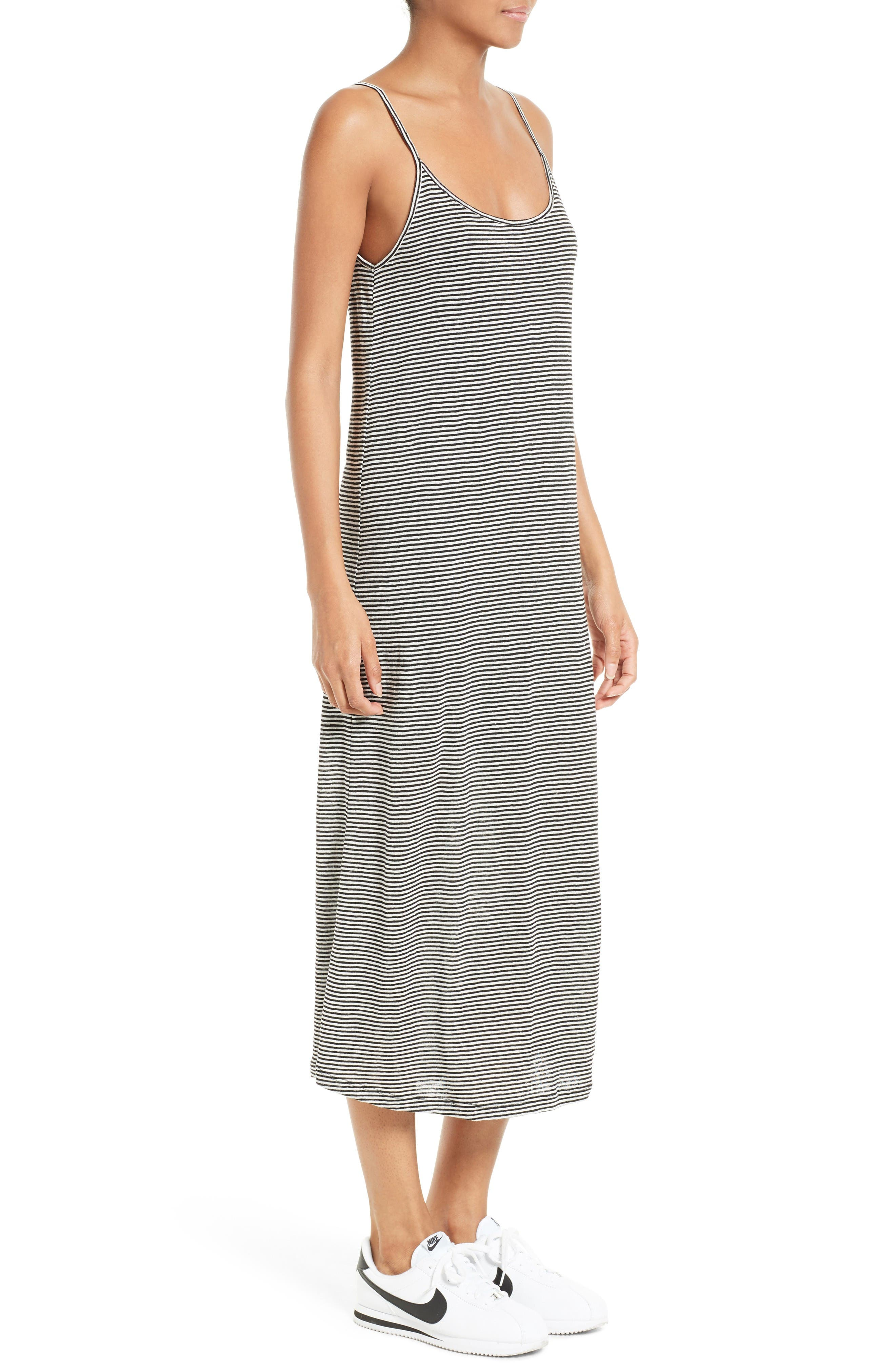 Alternate Image 3  - A.L.C. Asher Stripe Linen Midi Dress