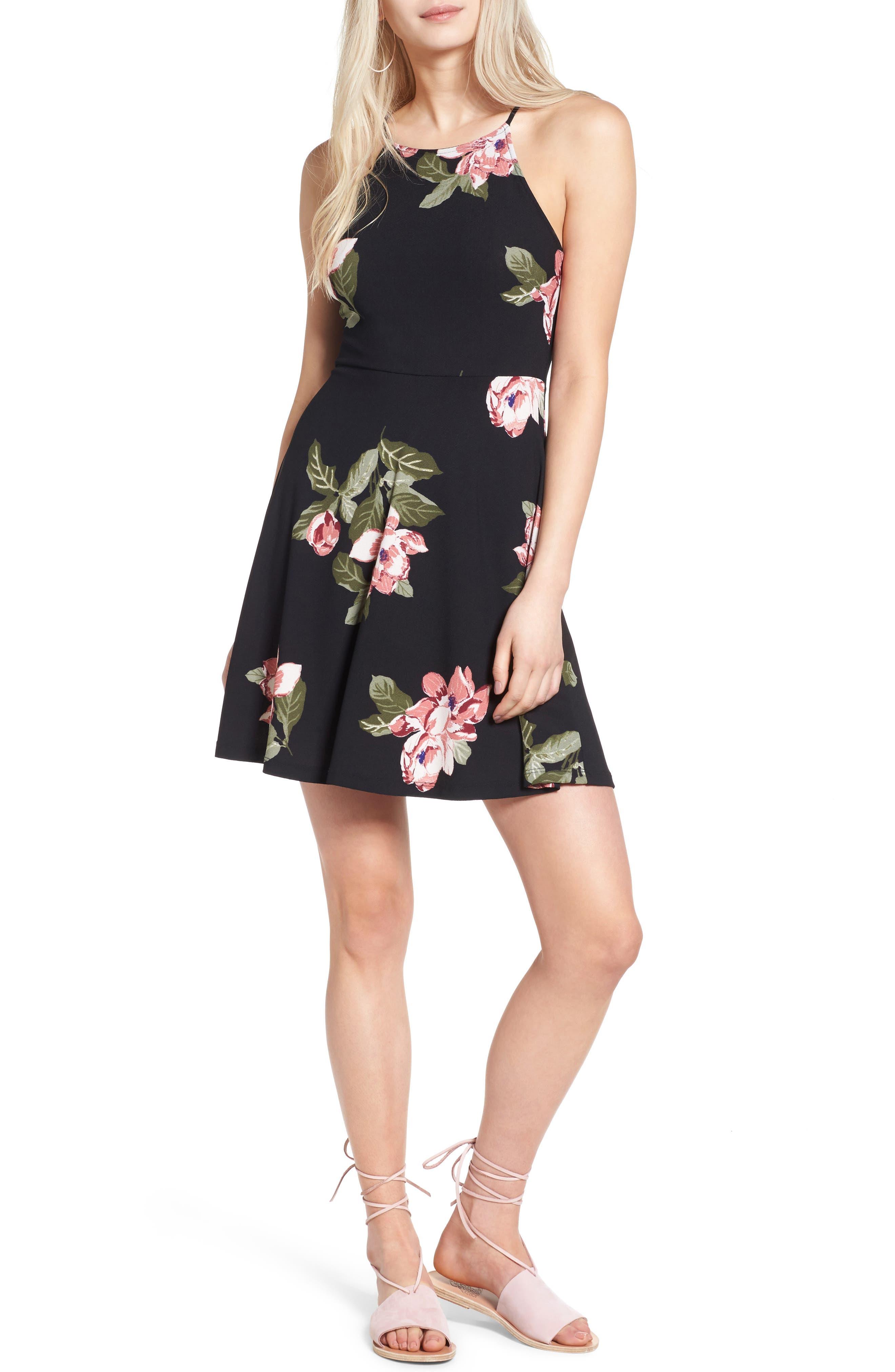 Alternate Image 1 Selected - Lush Ava Skater Dress