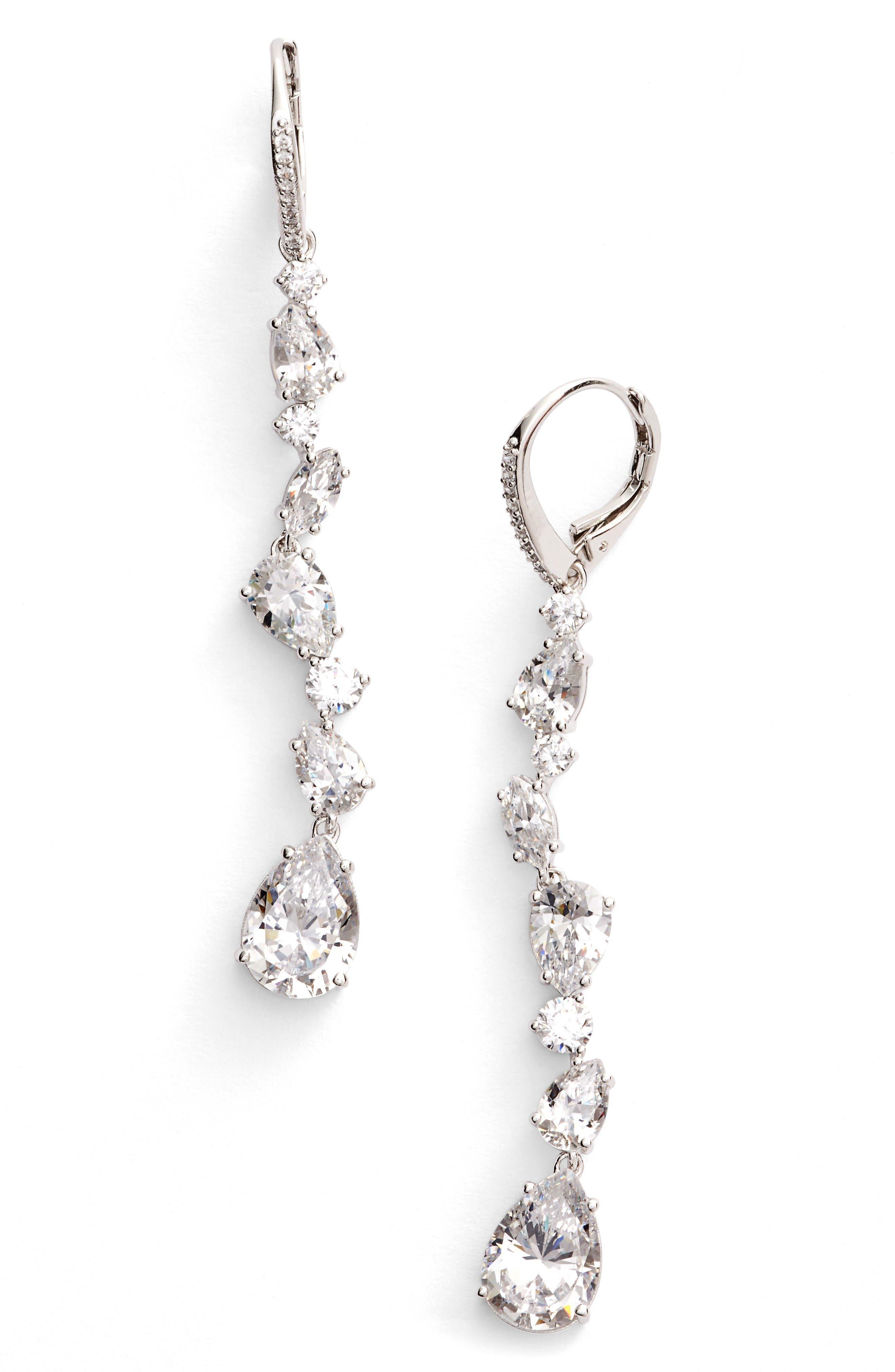 Alternate Image 1 Selected - Nadri Ava Linear Drop Earrings