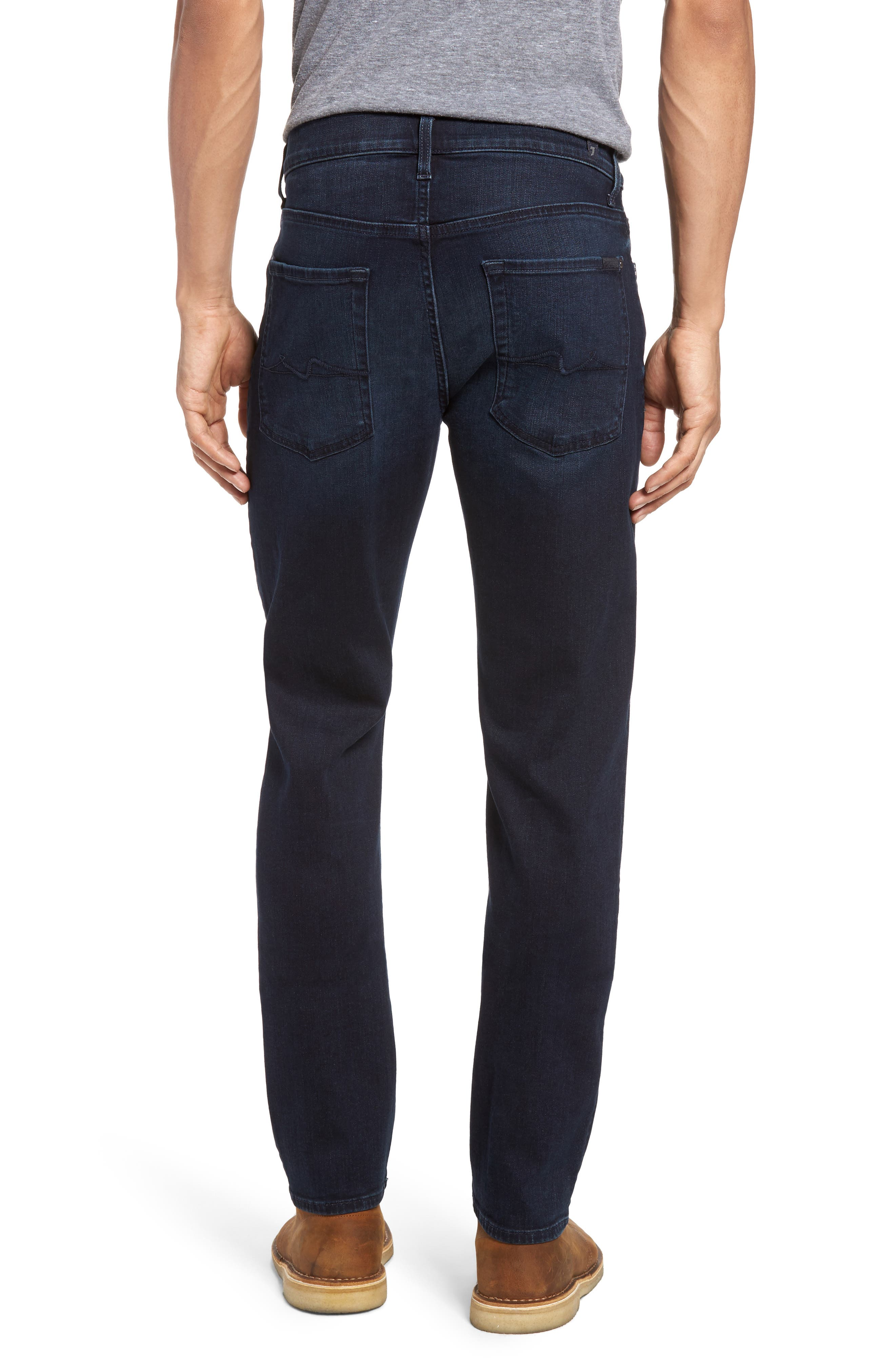 Alternate Image 2  - 7 For All Mankind® Slimmy Luxe Performance Slim Fit Jeans (Tidal Wave)
