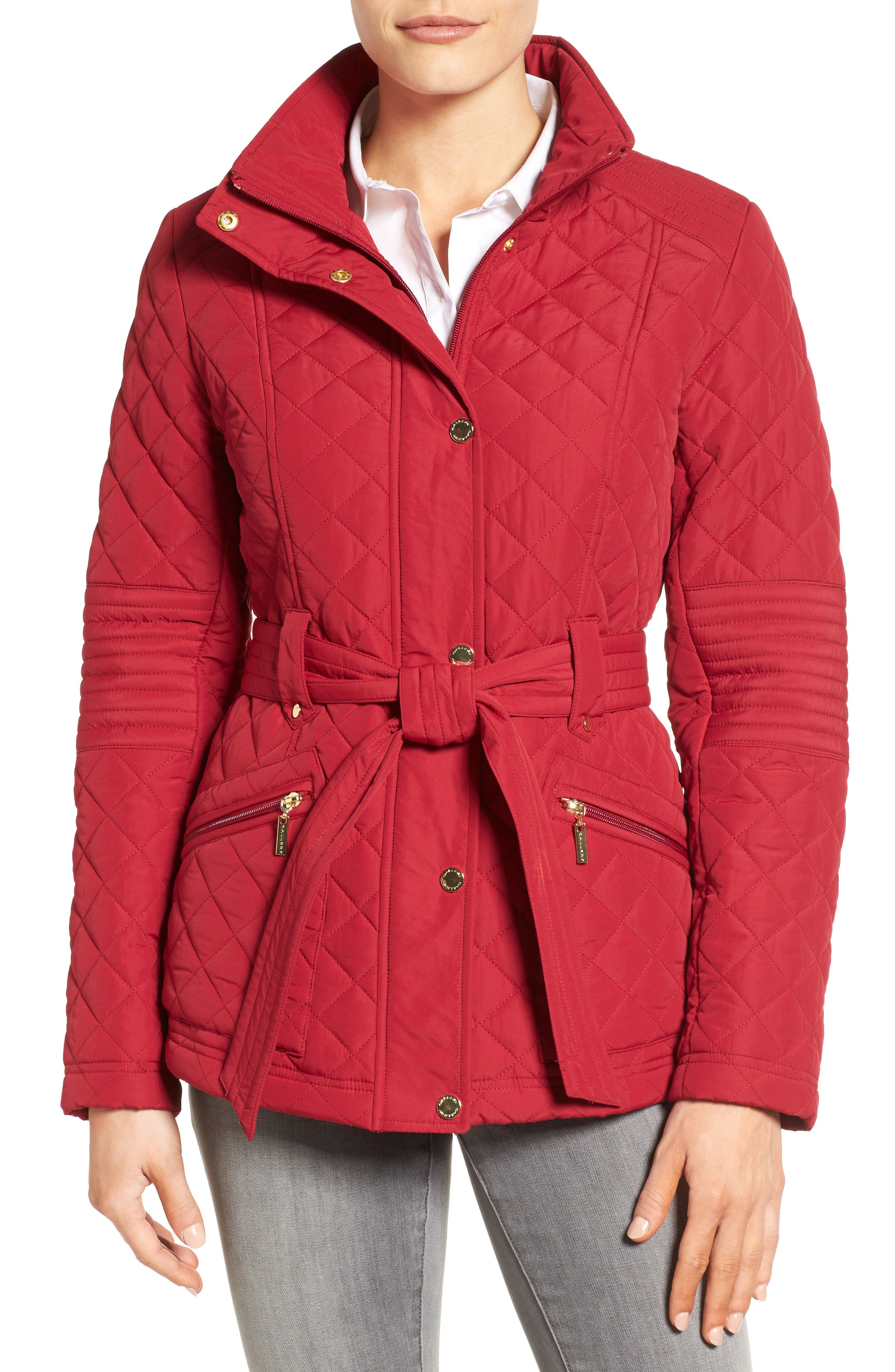 Gallery Belted Quilted Jacket