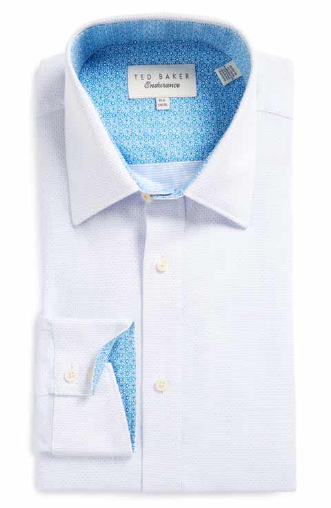 Ted Baker London Falcon Trim Fit Solid Dress Shirt