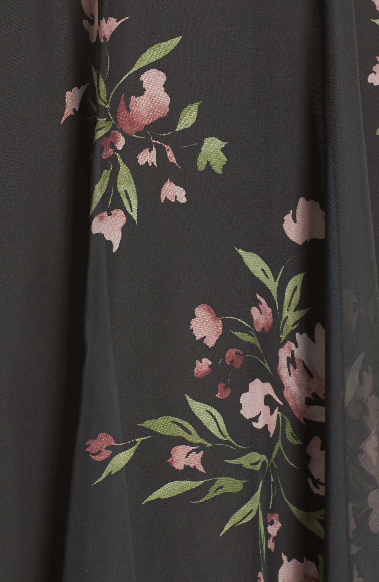 Alternate Image 5  - Jenny Yoo Inesse V-Neck Chiffon Gown