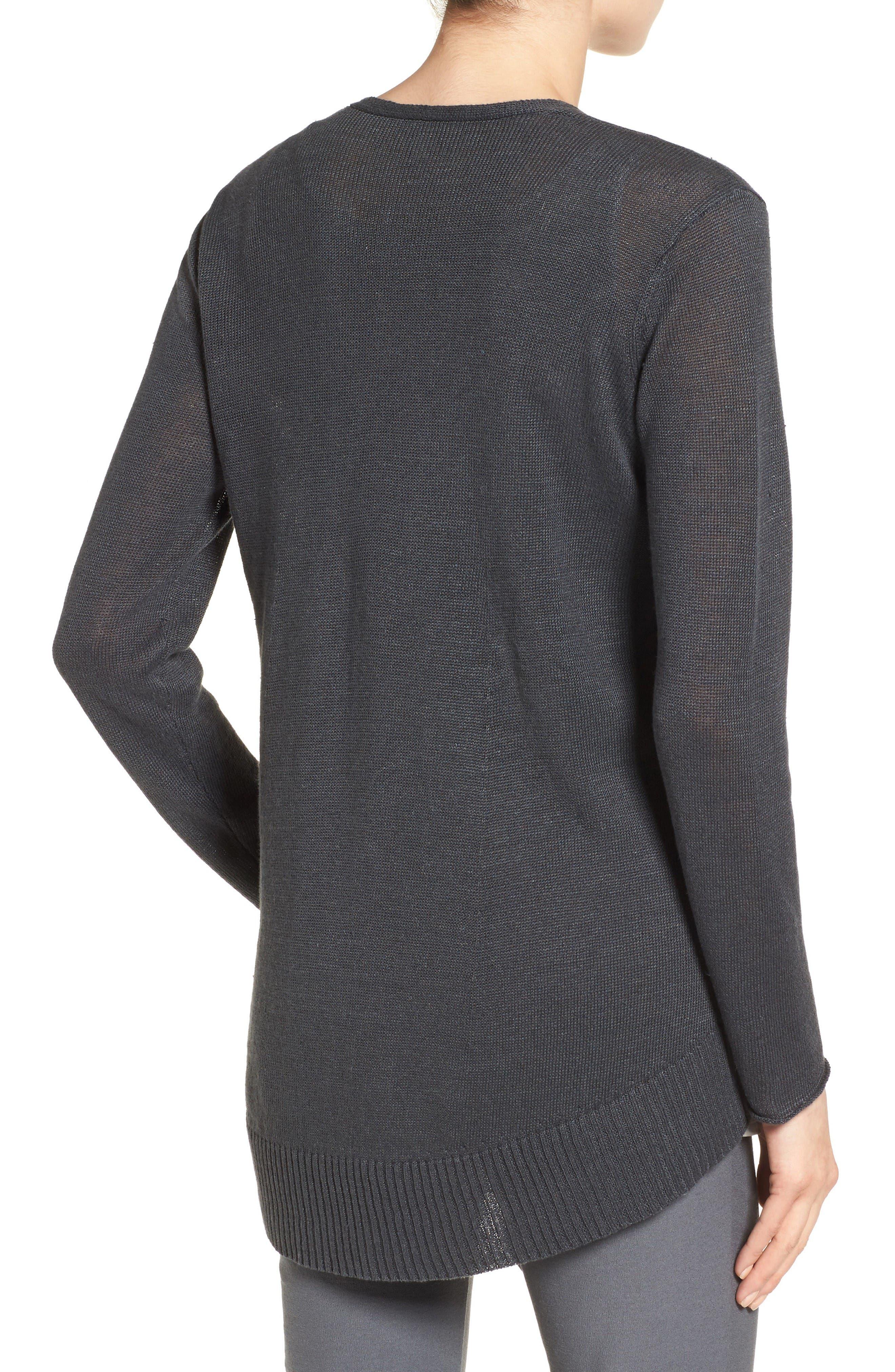 Alternate Image 2  - Eileen Fisher Organic Linen Open Front Cardigan