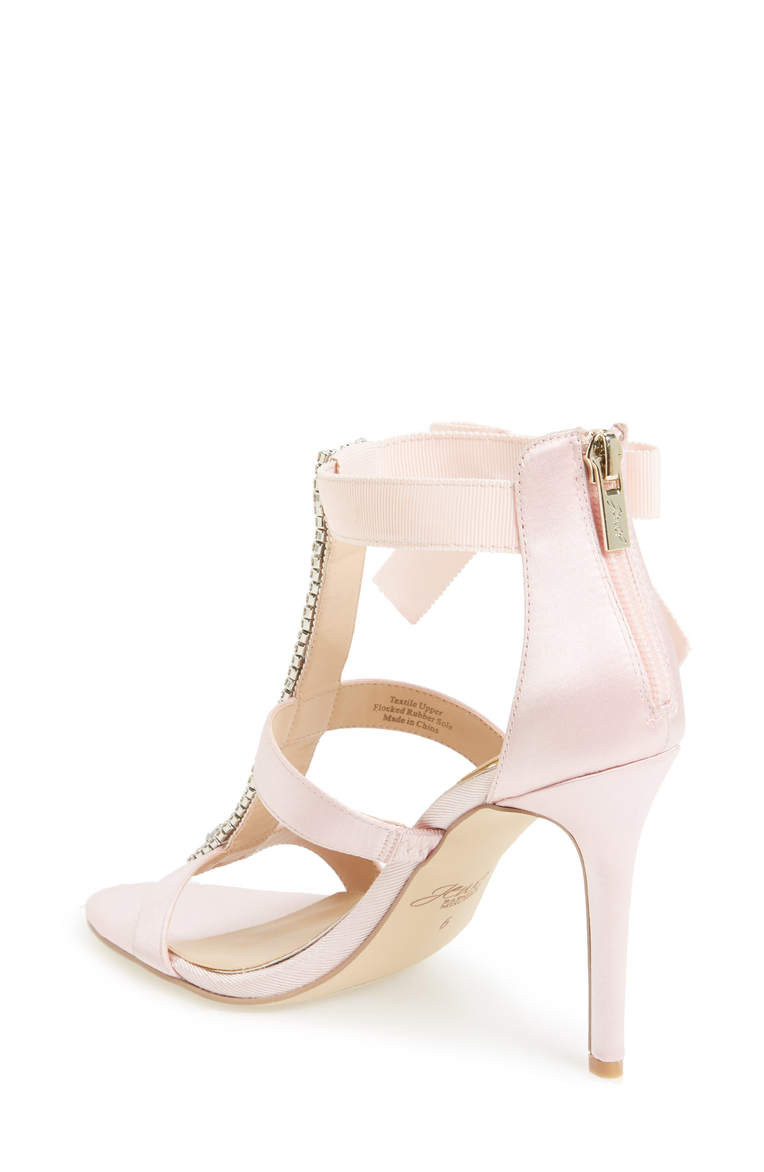 Alternate Image 2  - Jewel Badgley Mischka Henderson Embellished Bow Sandal (Women)
