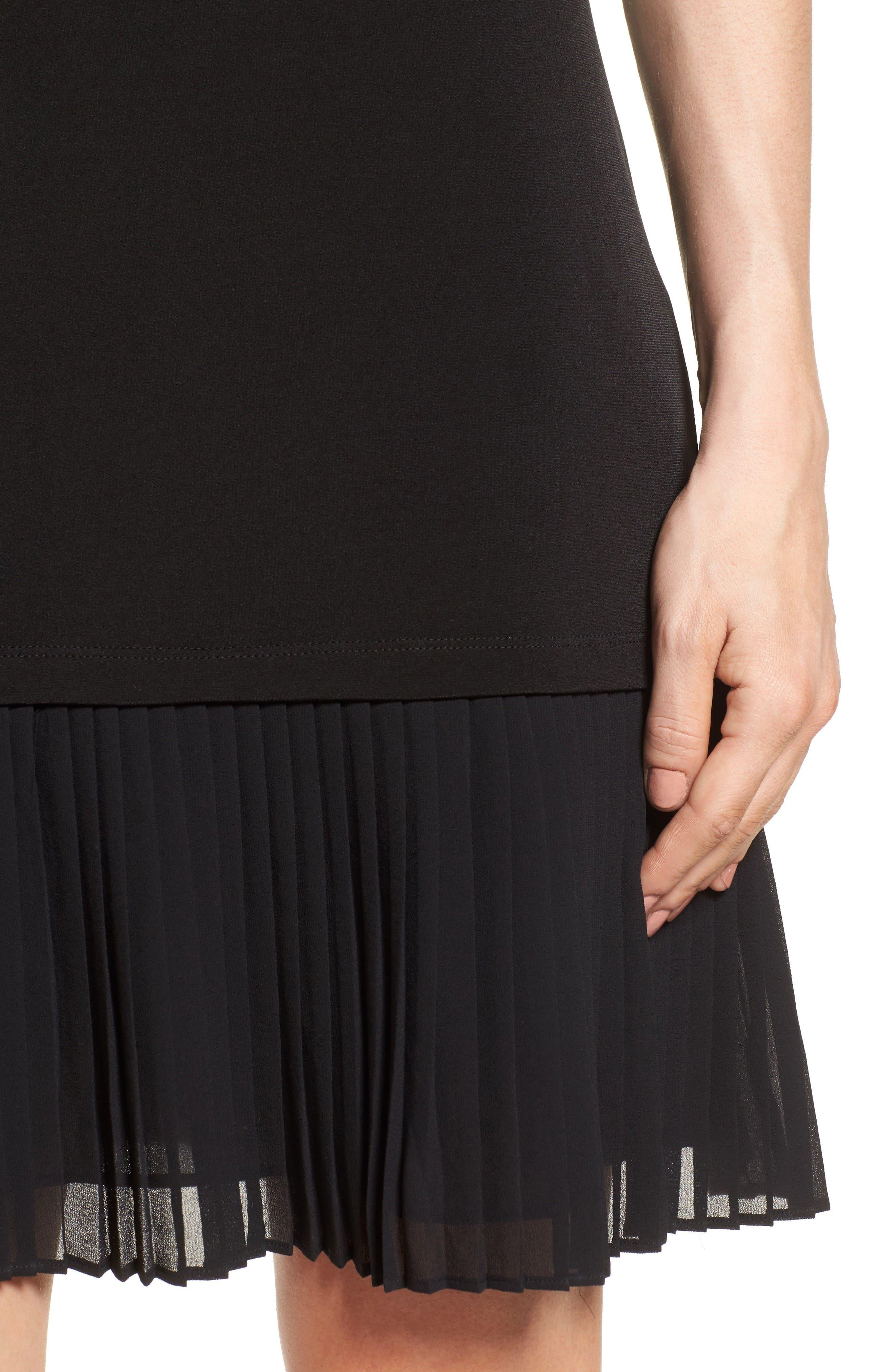 Alternate Image 4  - MICHAEL Michael Kors Pleat Chiffon Hem Jersey Dress