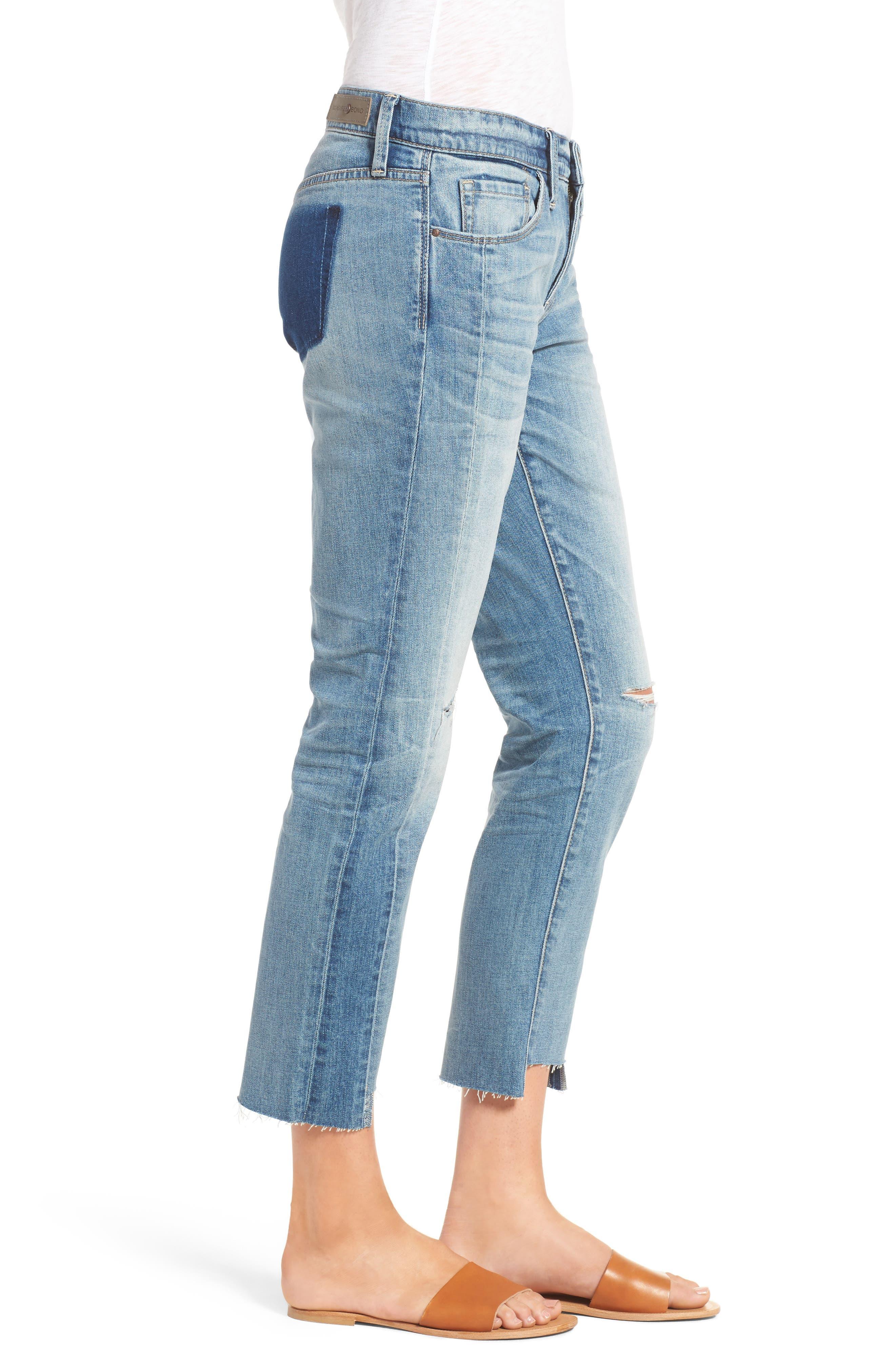 Alternate Image 4  - Treasure & Bond Skinny Boyfriend Jeans (Gravel Medium Remade)
