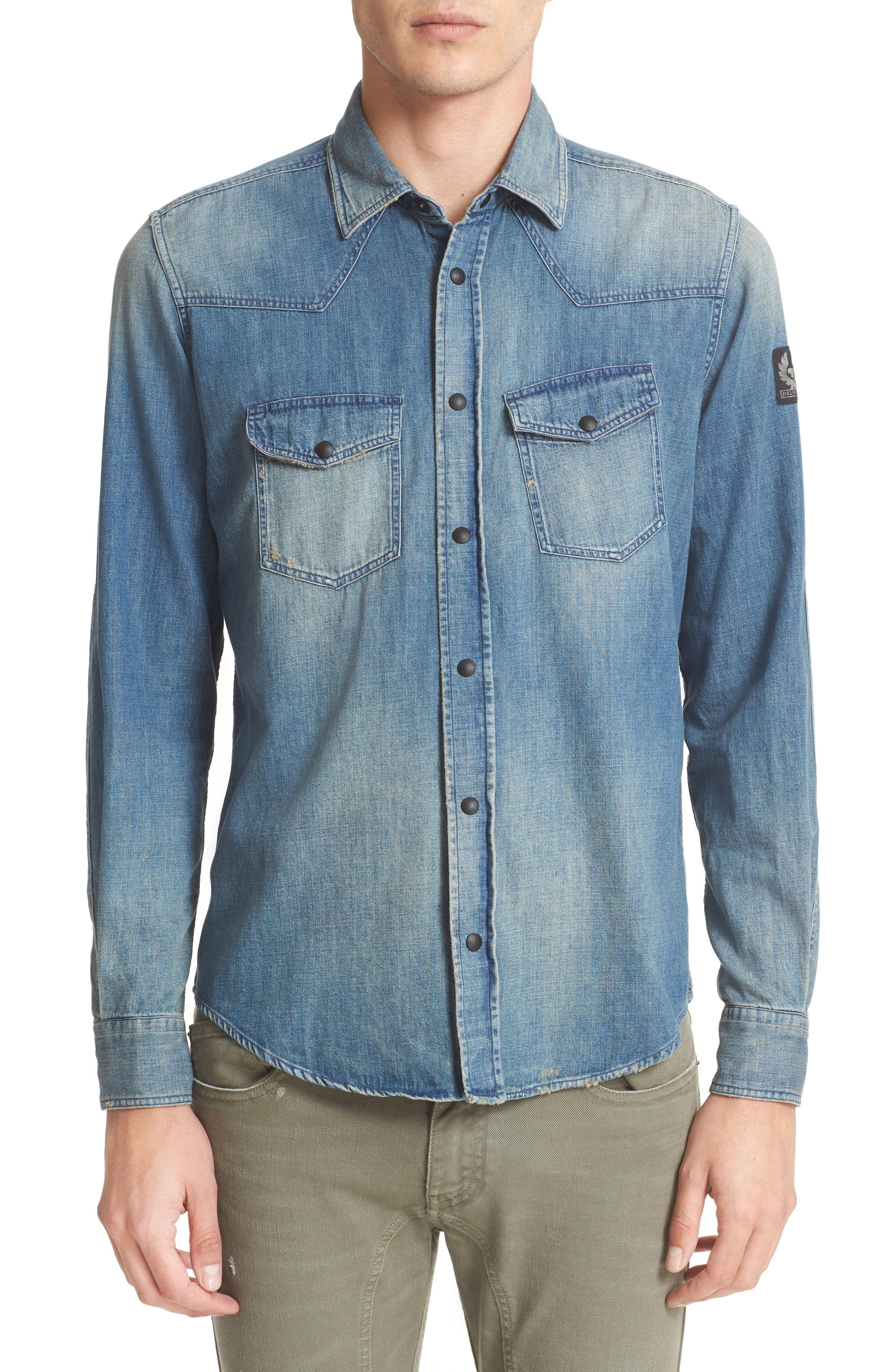 BELSTAFF Someford Extra Trim Fit Denim Shirt