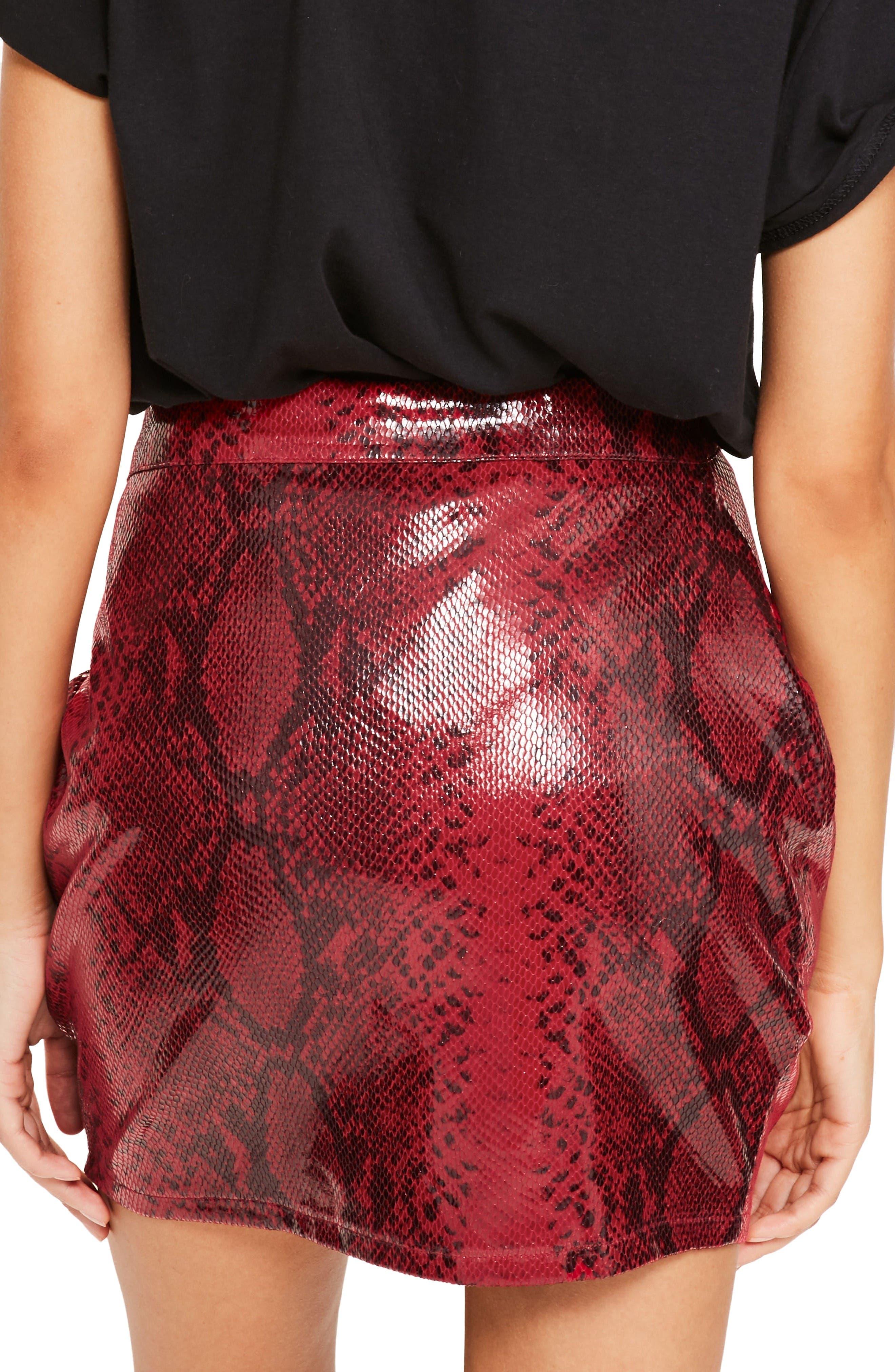Alternate Image 2  - Missguided High Shine Faux Snakeskin Miniskirt