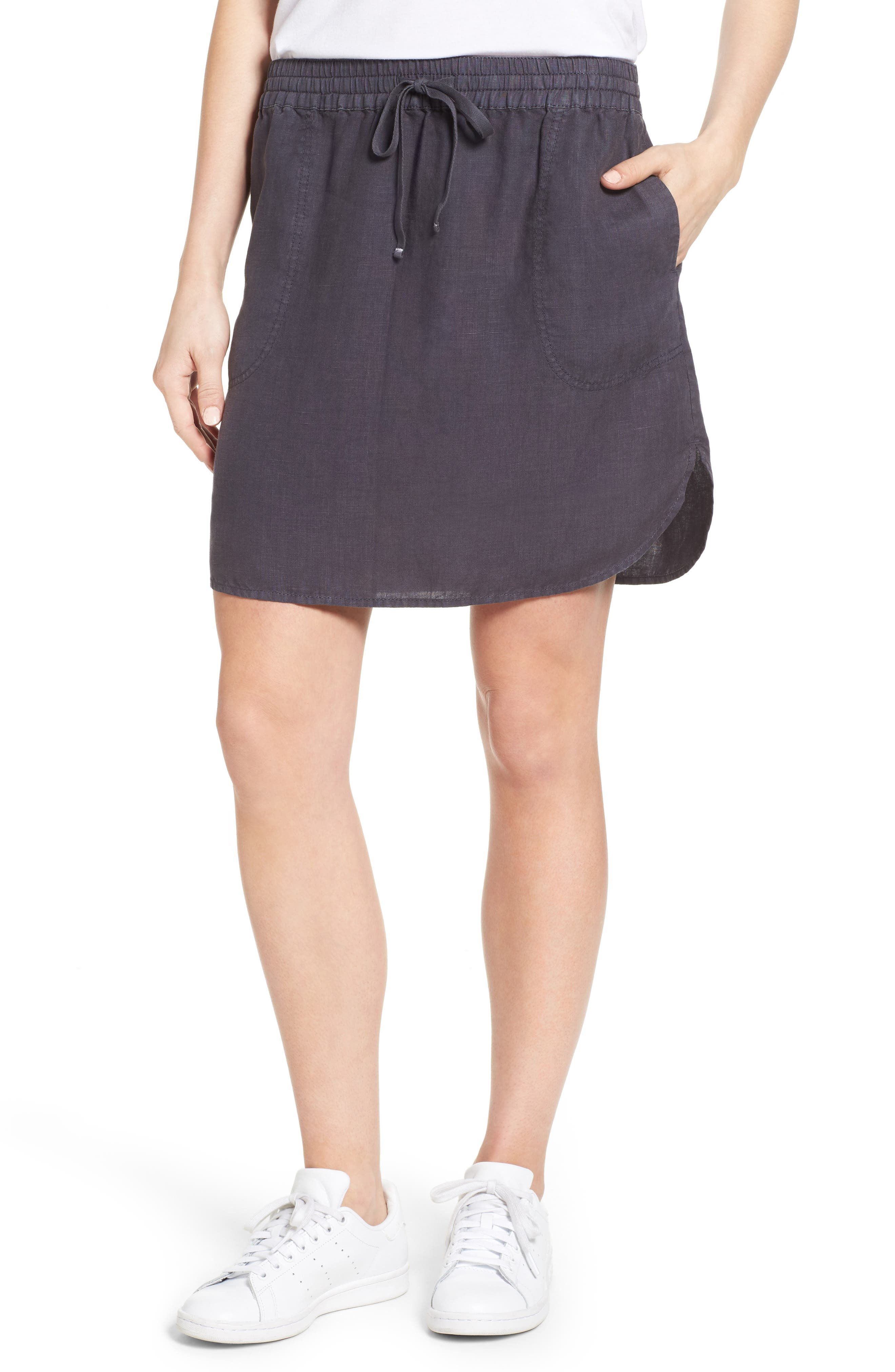 Caslon® Easy Linen Skirt (Regular & Petite)