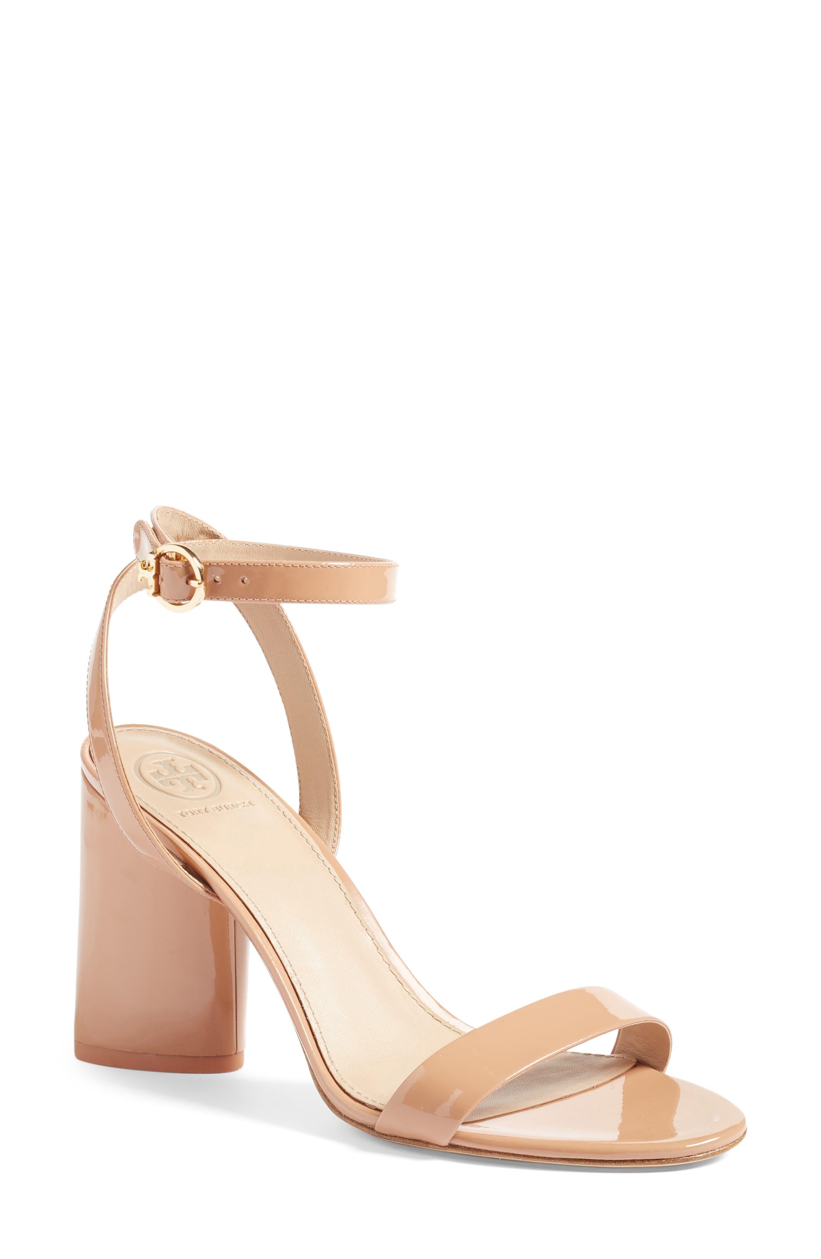 Alternate Image 1 Selected - Tory Burch Elizabeth Block Heel Sandal (Women)