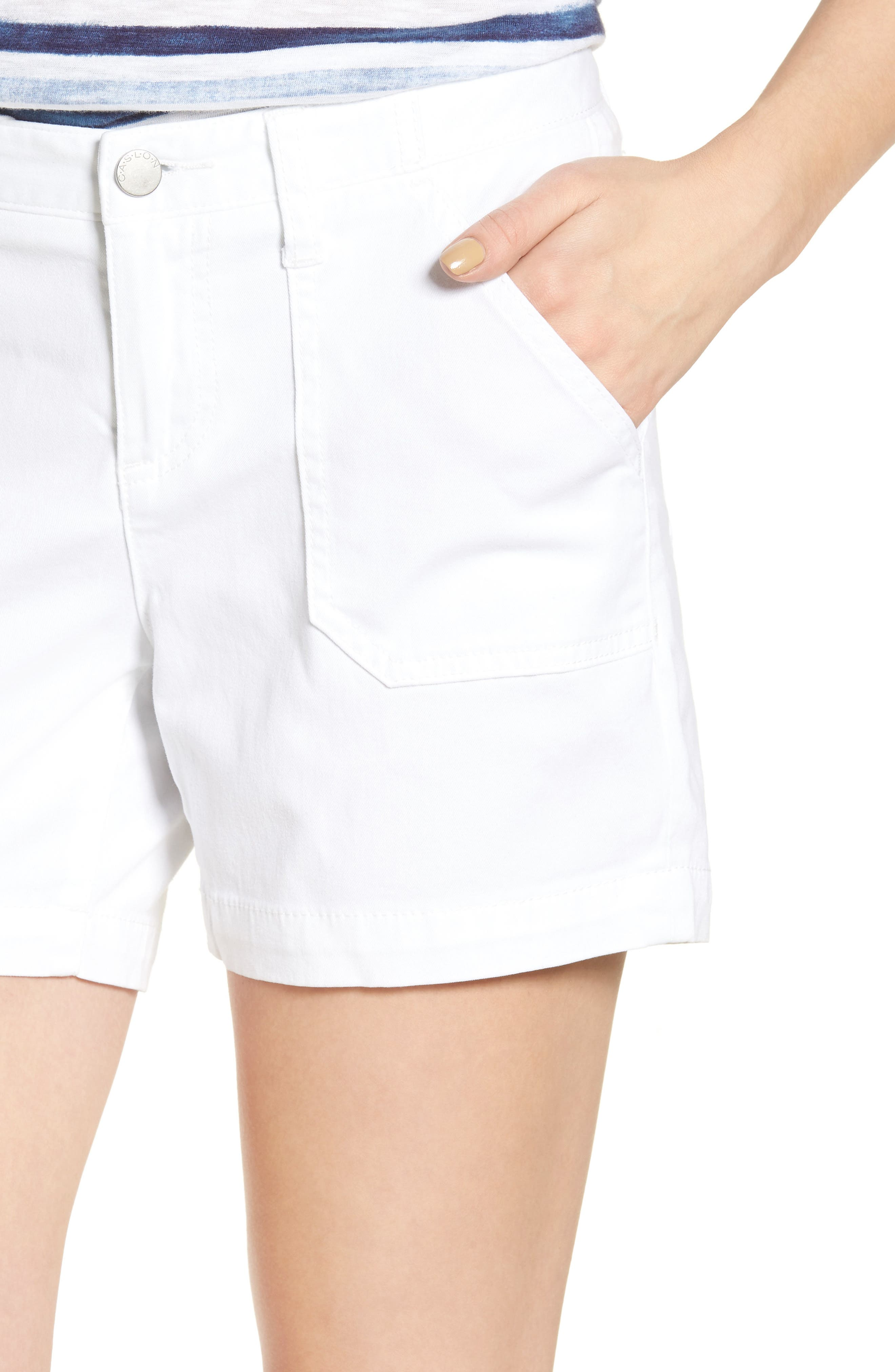 Alternate Image 5  - Caslon® Utility Shorts (Regular & Petite)