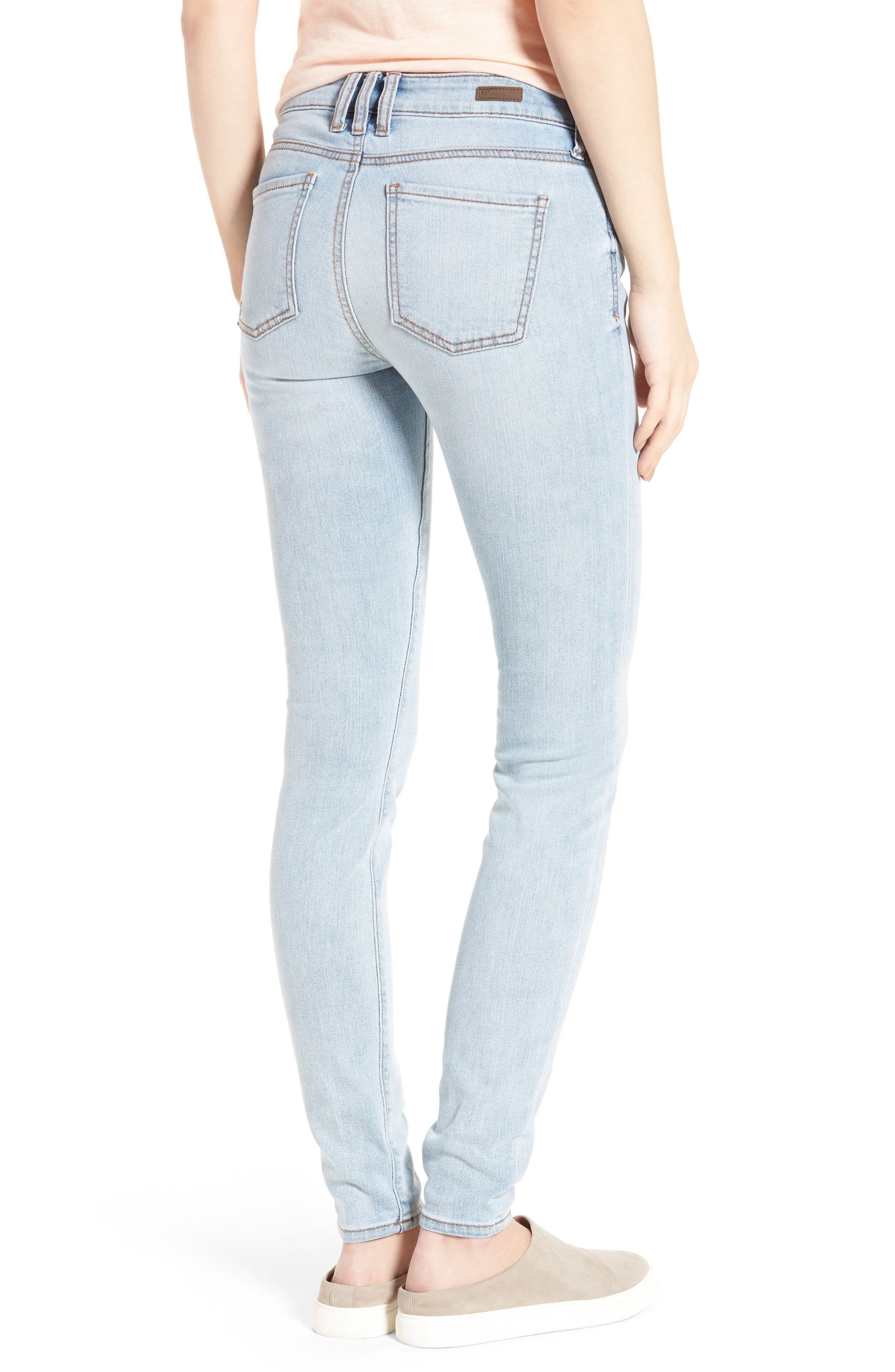 Alternate Image 2  - KUT from the Kloth Mia Toothpick Skinny Jeans (Expectation)