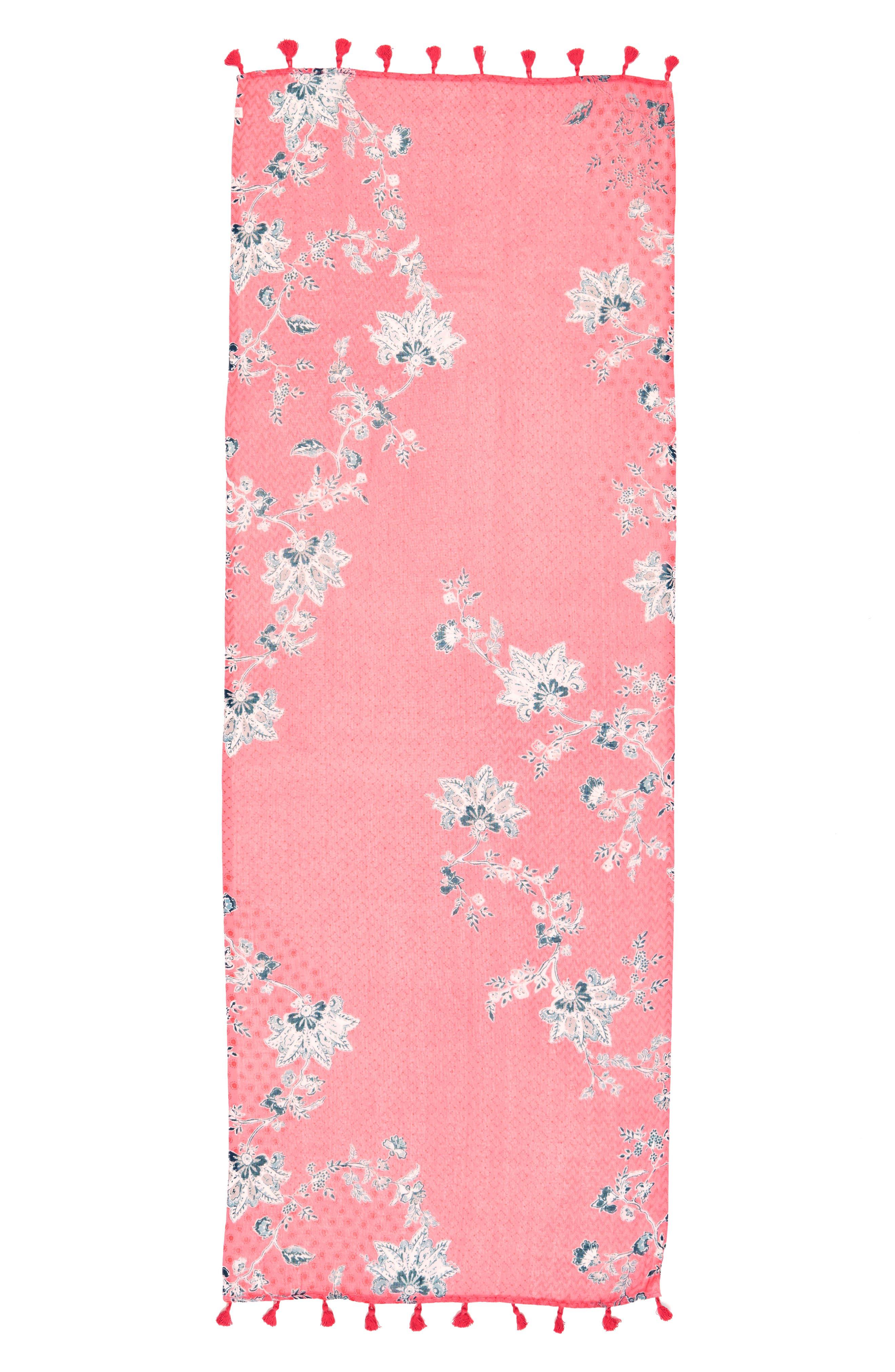 Alternate Image 2  - Caslon® Floral Tides Tassel Scarf