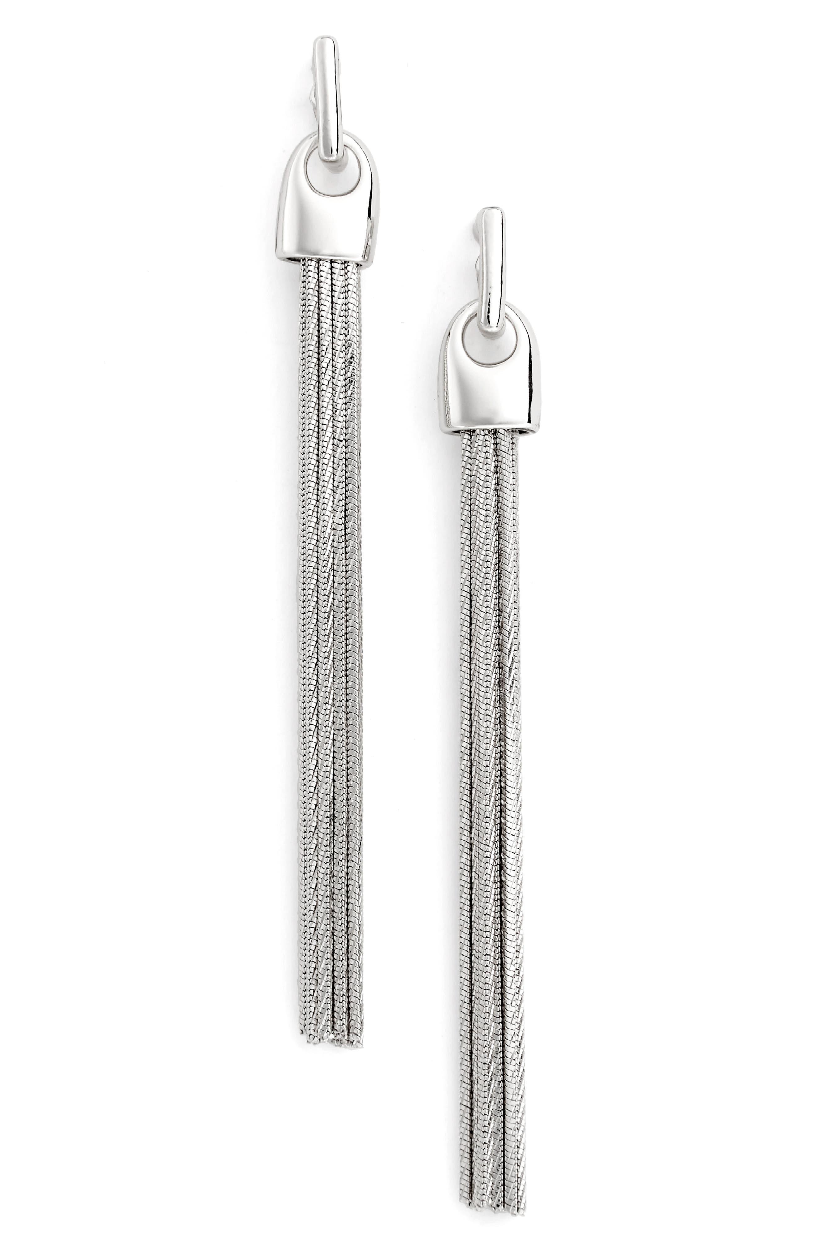 Alternate Image 1 Selected - Nordstrom Tassel Chain Drop Earrings