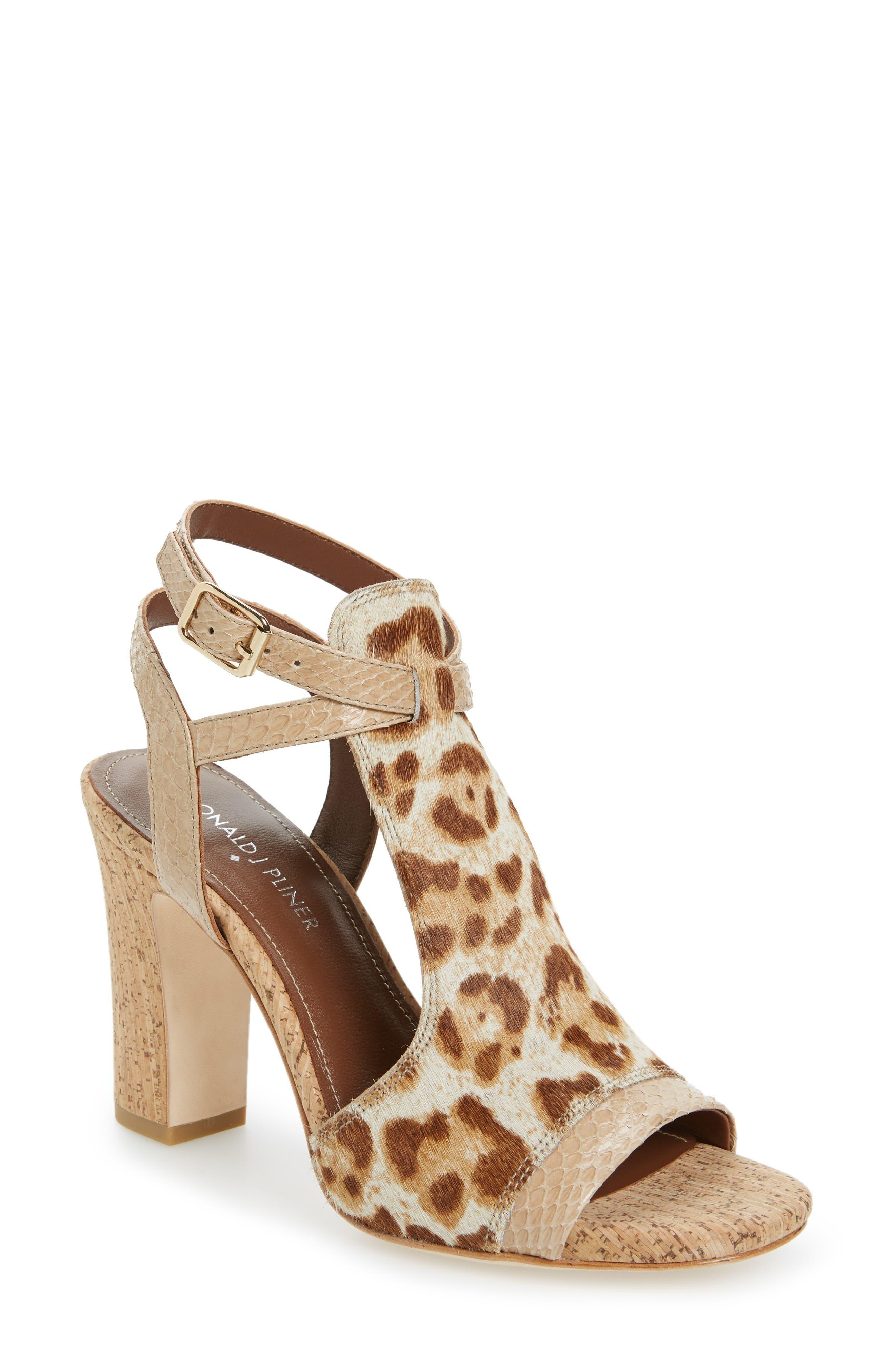 Donald J Pliner Tinna Genuine Calf Hair Sandal (Women)