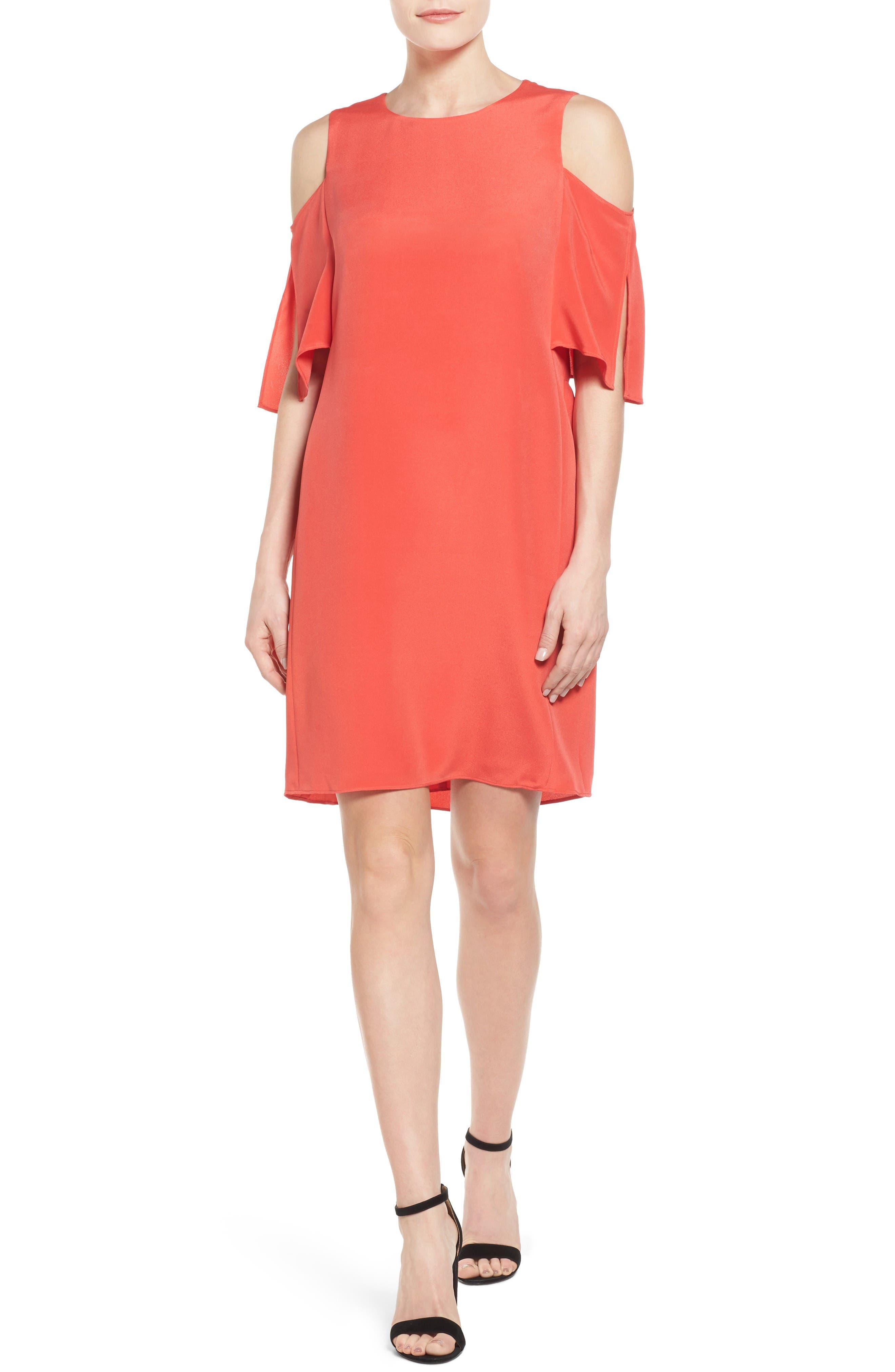 KOBI HALPERIN Saige Cold Shoulder Shift Dress