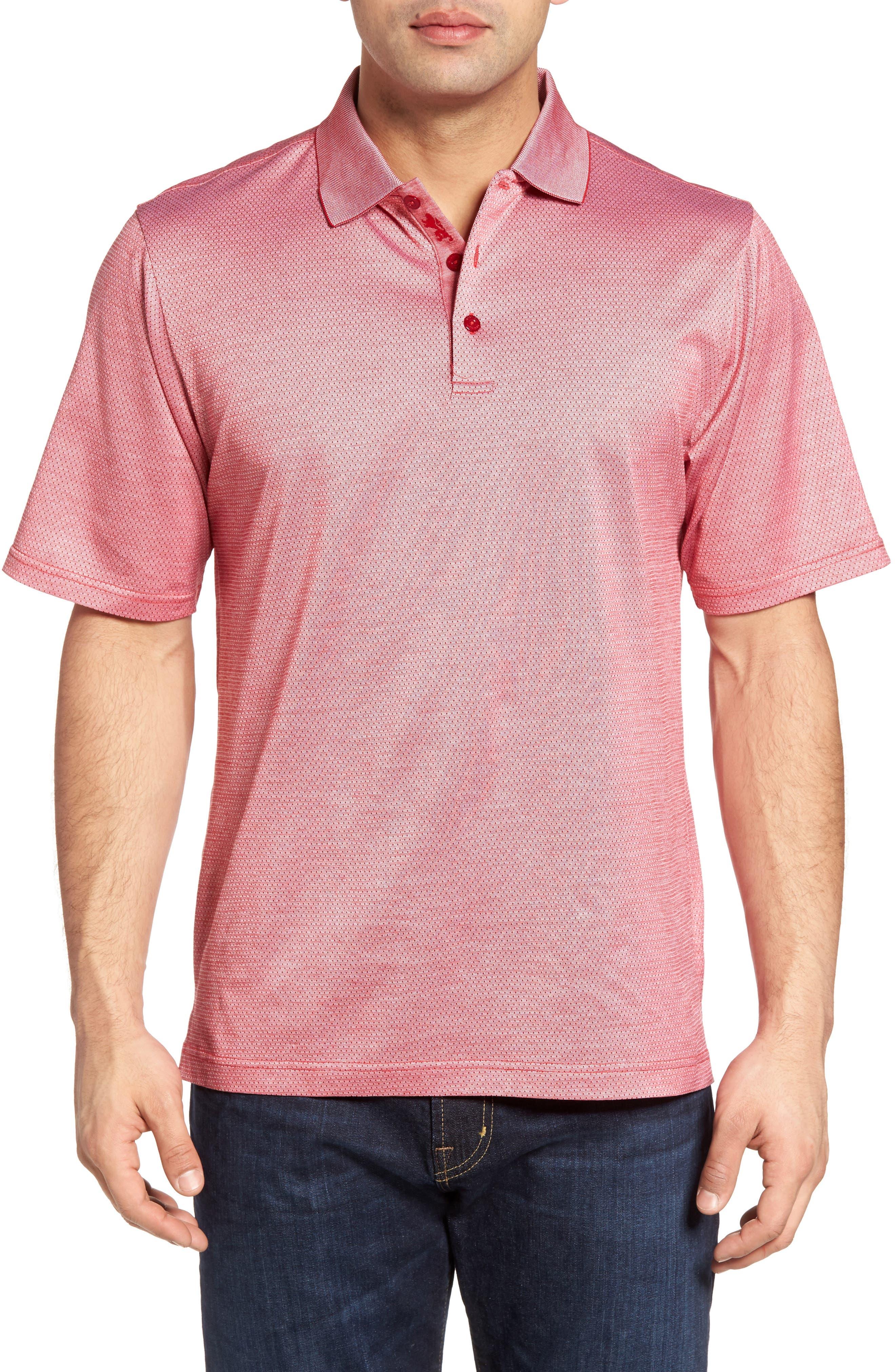 BUGATCHI Mercerized Cotton Polo