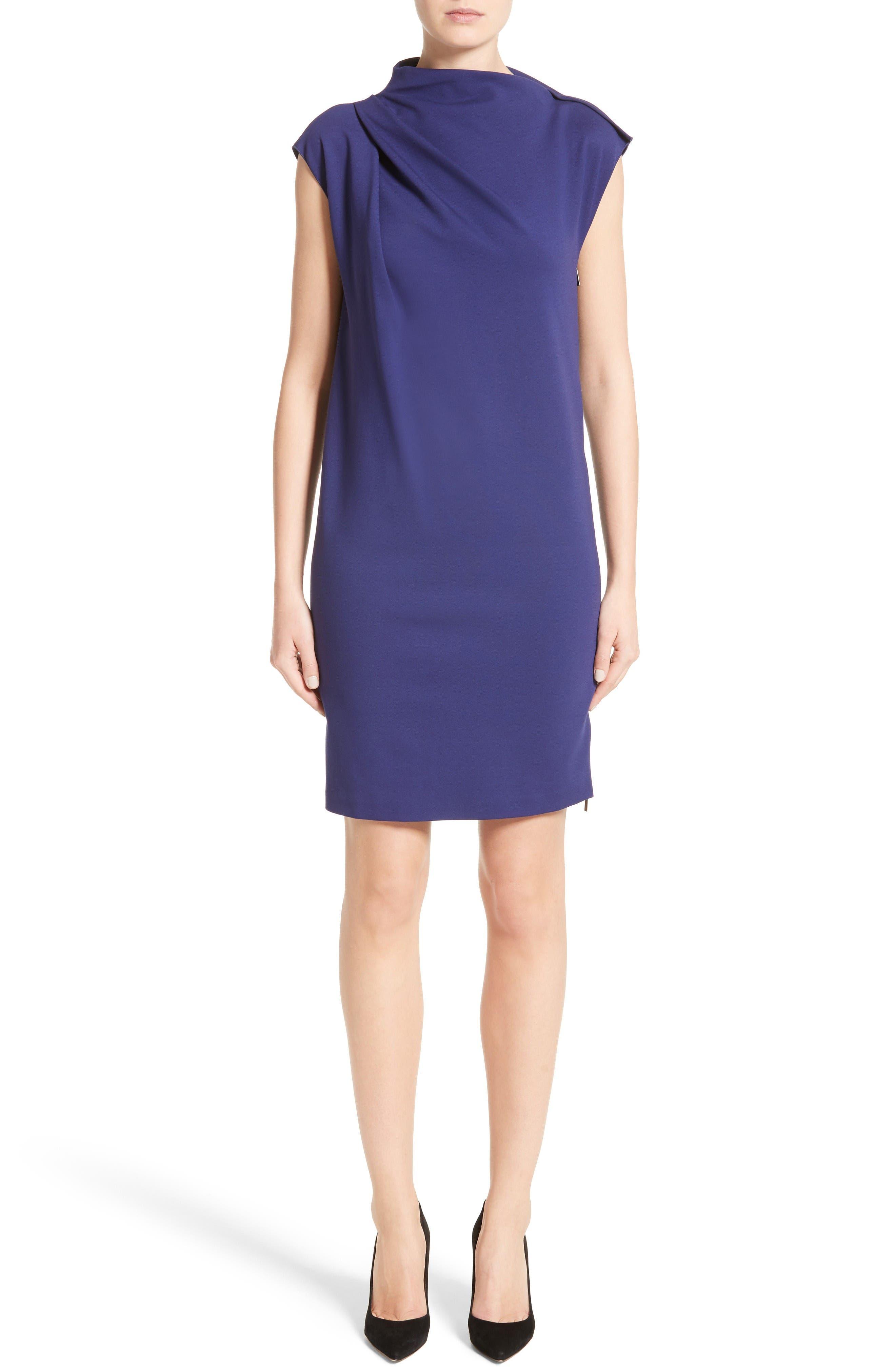 Armani Collezioni Milano Jersey Asymmetrical Dress