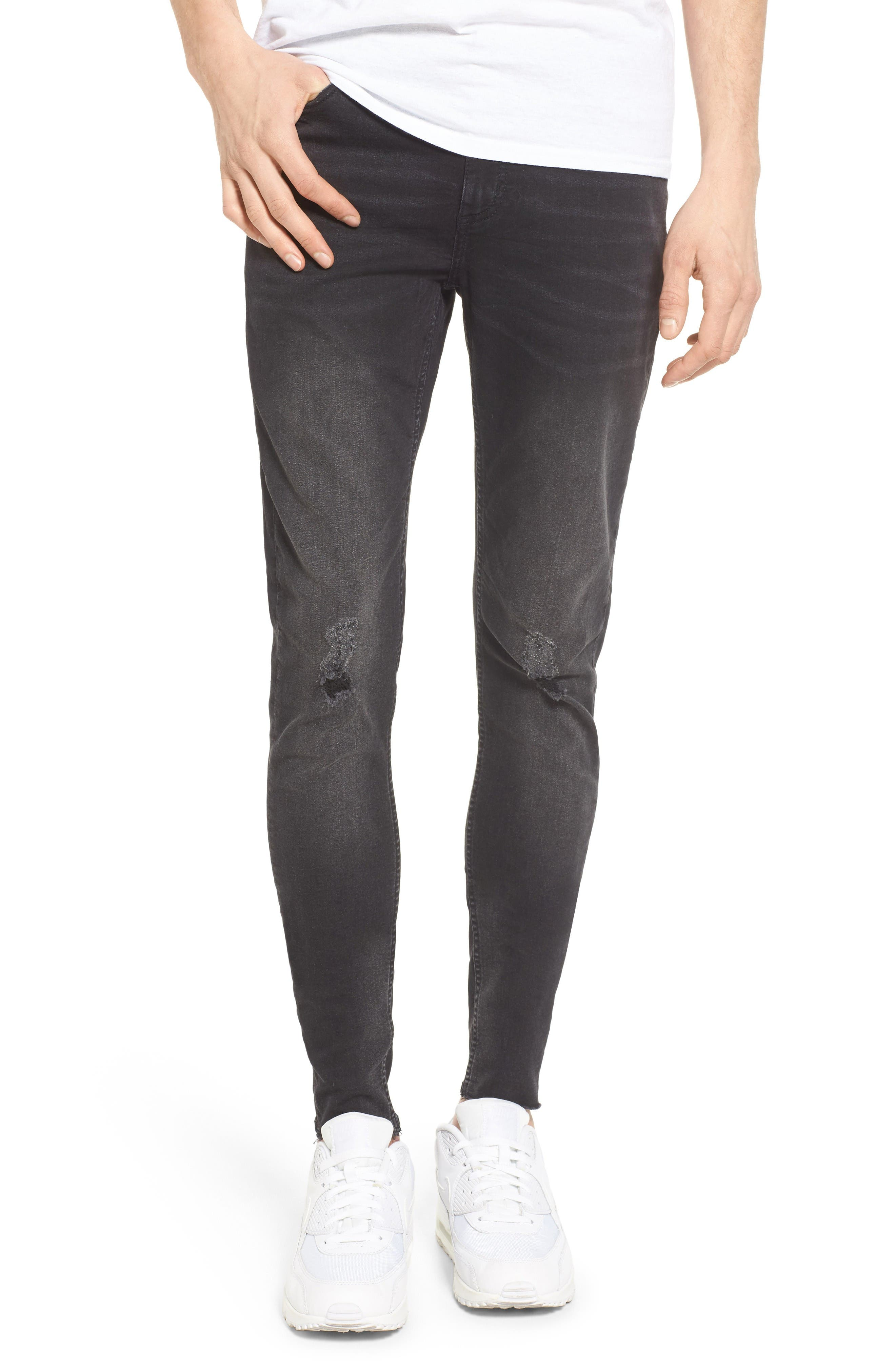 Cheap Monday Him Spray-On Skinny Fit Jeans (Cult Black)