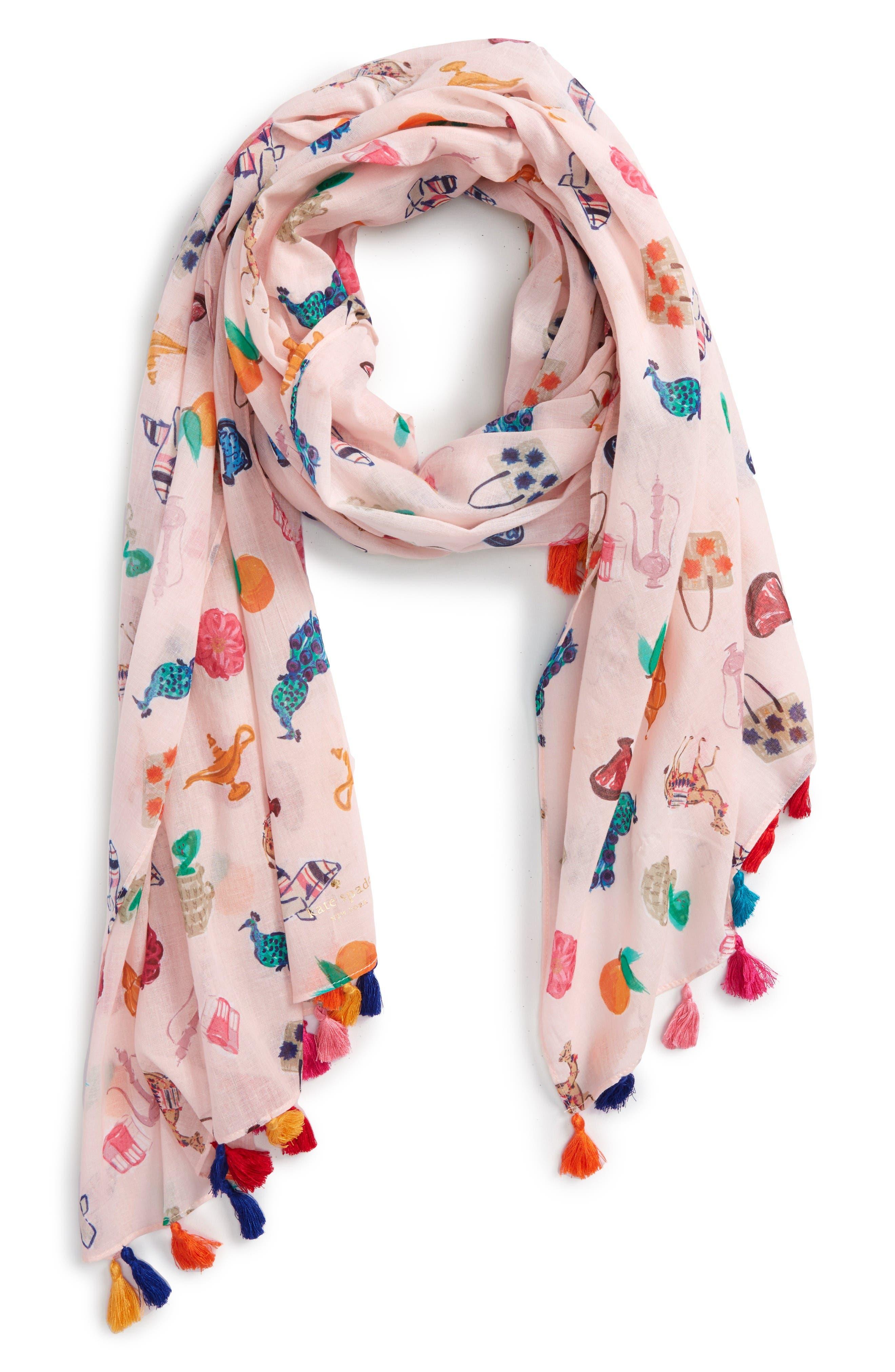 KATE SPADE NEW YORK souk tassel scarf