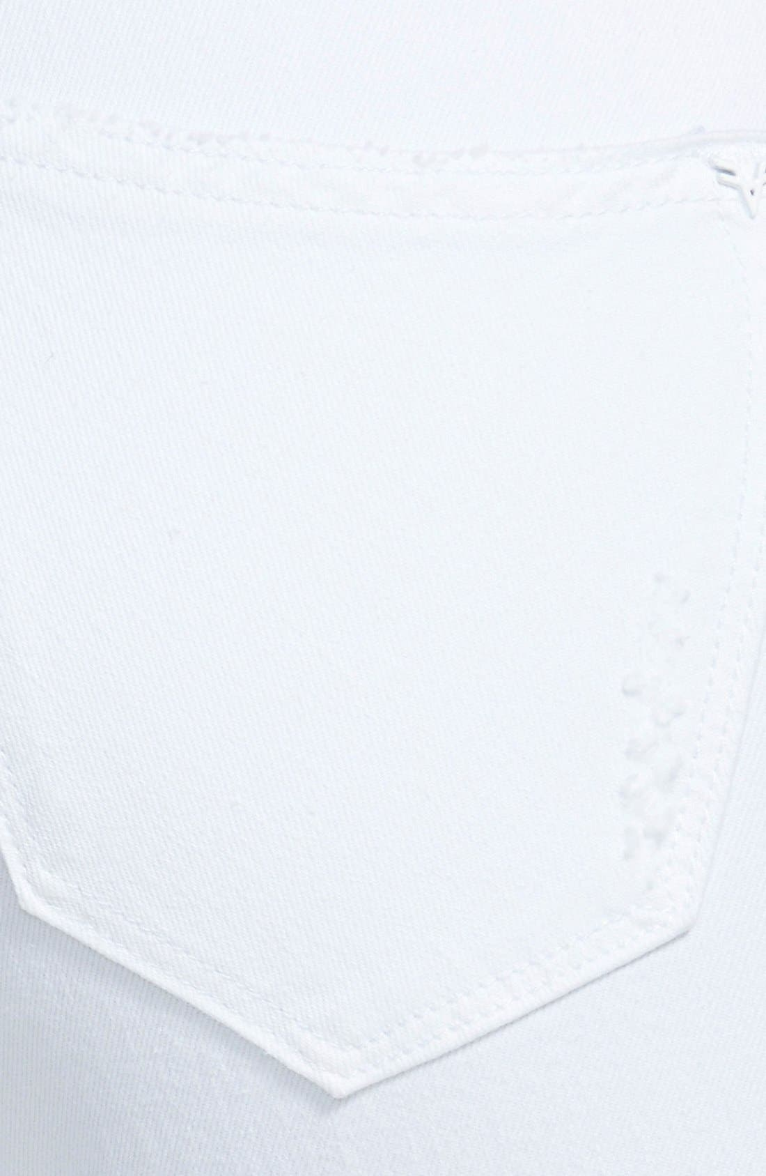 Alternate Image 3  - Vigoss 'Tomboy' Destroyed Crop Skinny Jeans (White)