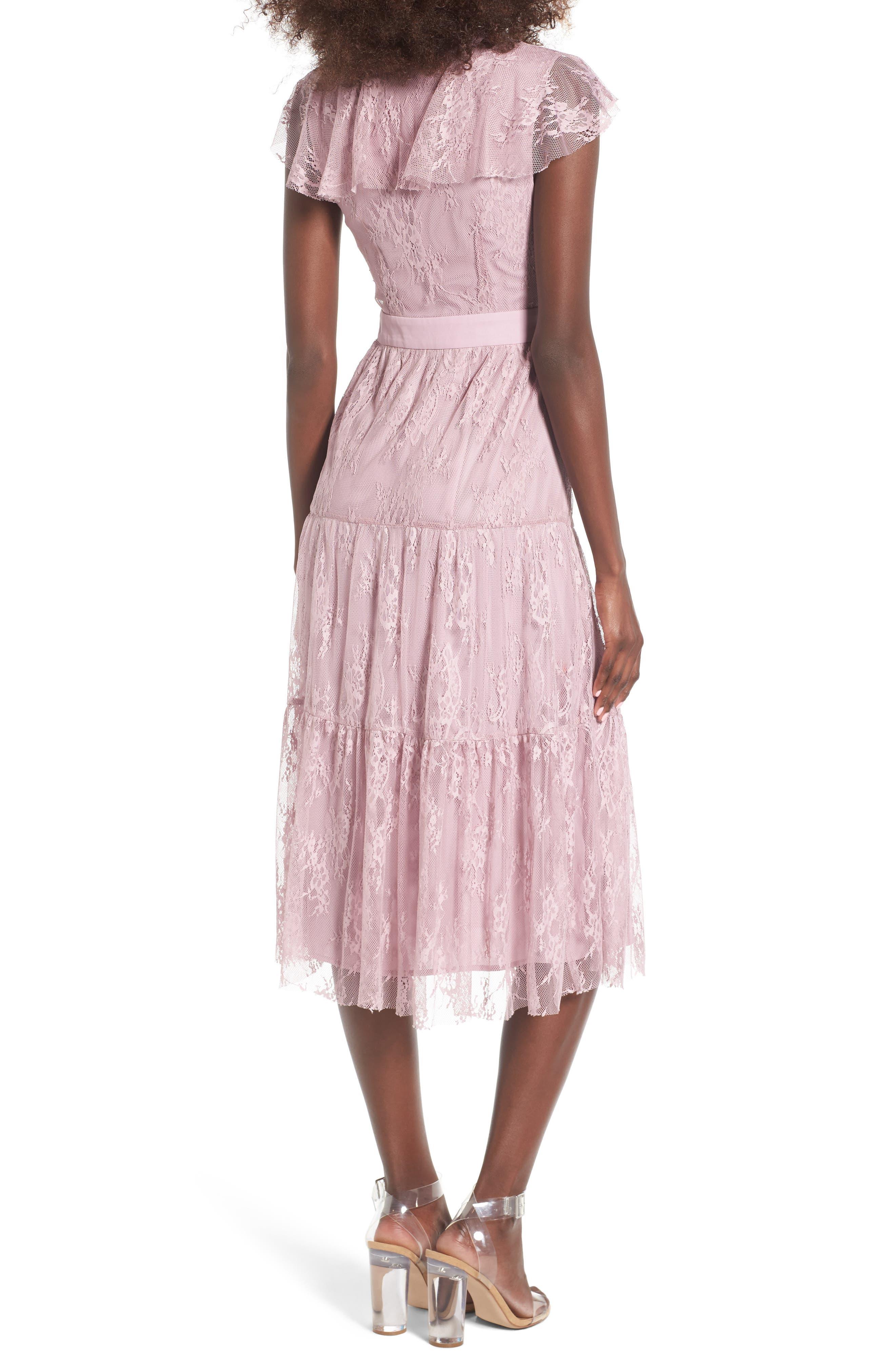 Alternate Image 2  - WAYF Hadley Lace Midi Dress