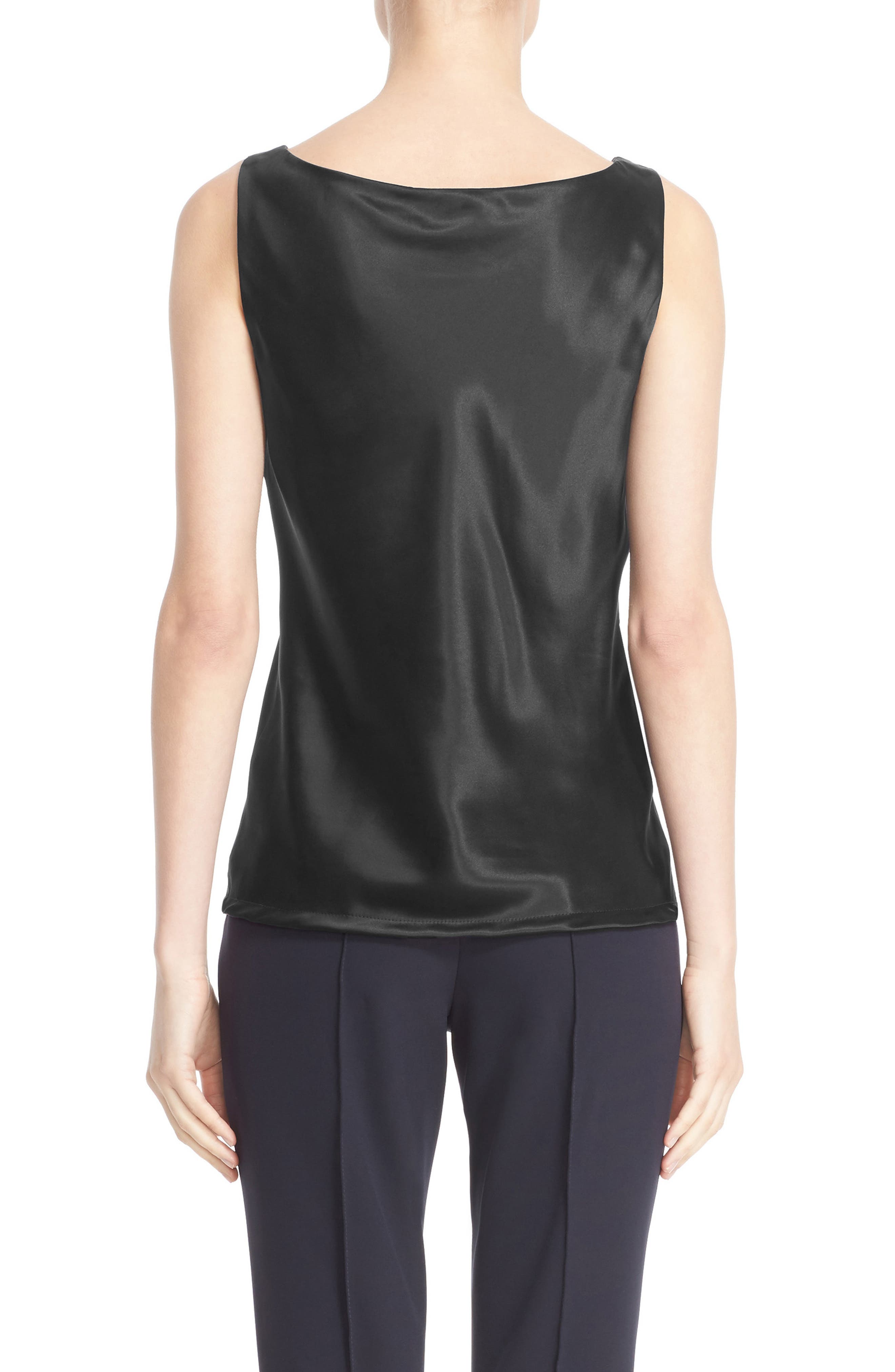 Alternate Image 2  - Lafayette 148 New York Reversible Refined Silk Charmeuse Tank (Regular & Petite)